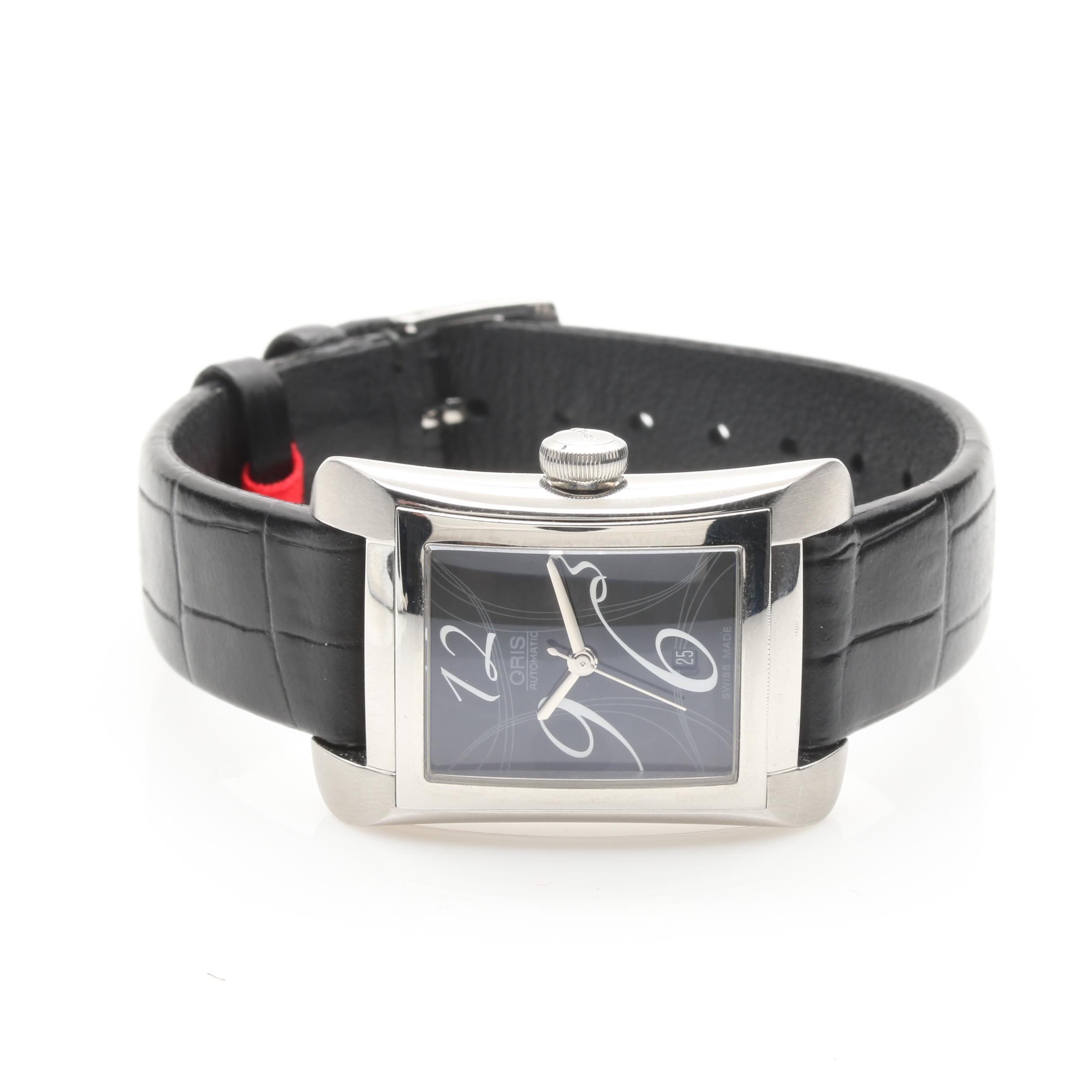 Silver Tone Oris Automatic Wristwatch