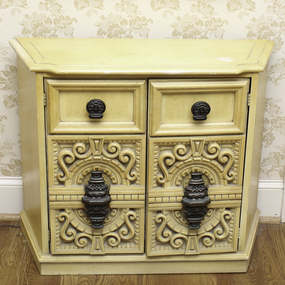 Mediterranean Style Painted Cabinet