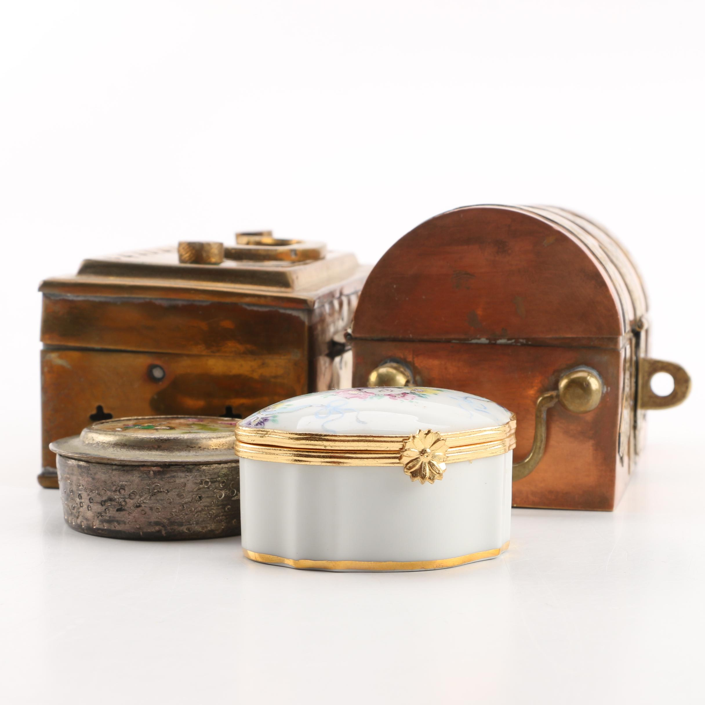 Assorted Metal and Ceramic Trinket Boxes