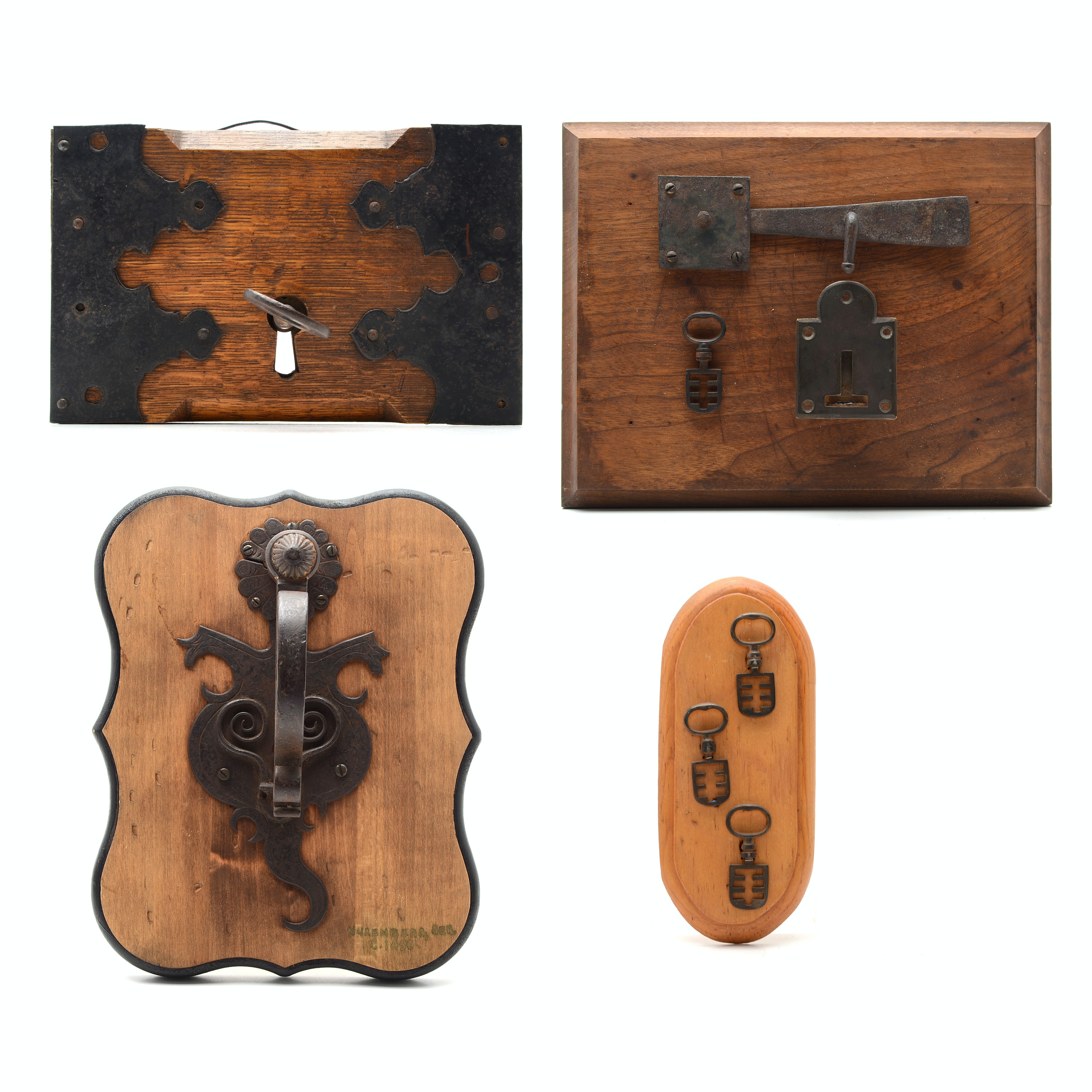 Antique Iron Locks, Keys, and Hardware, Including a 16th to 17th Century Example