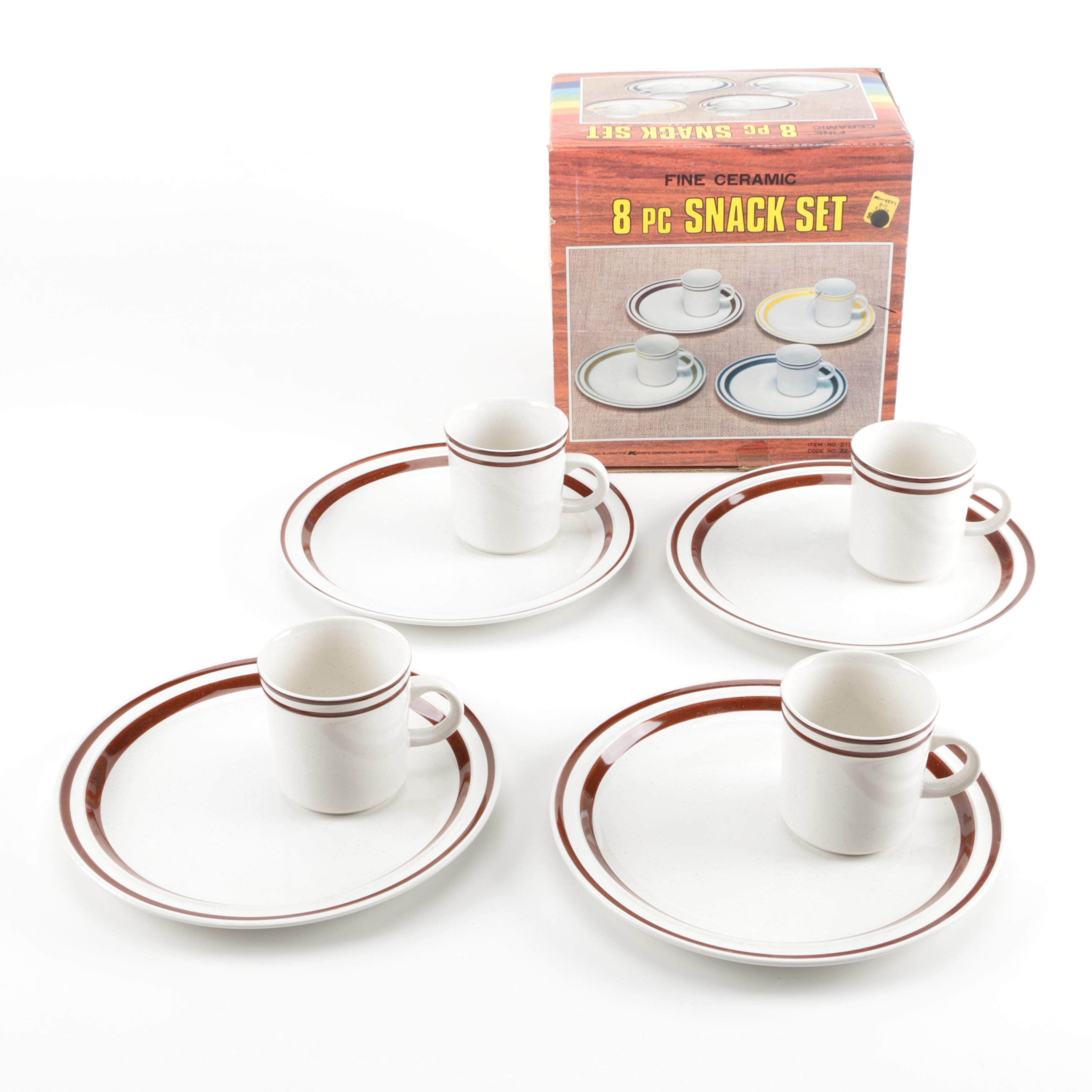 Ceramic Snack Set