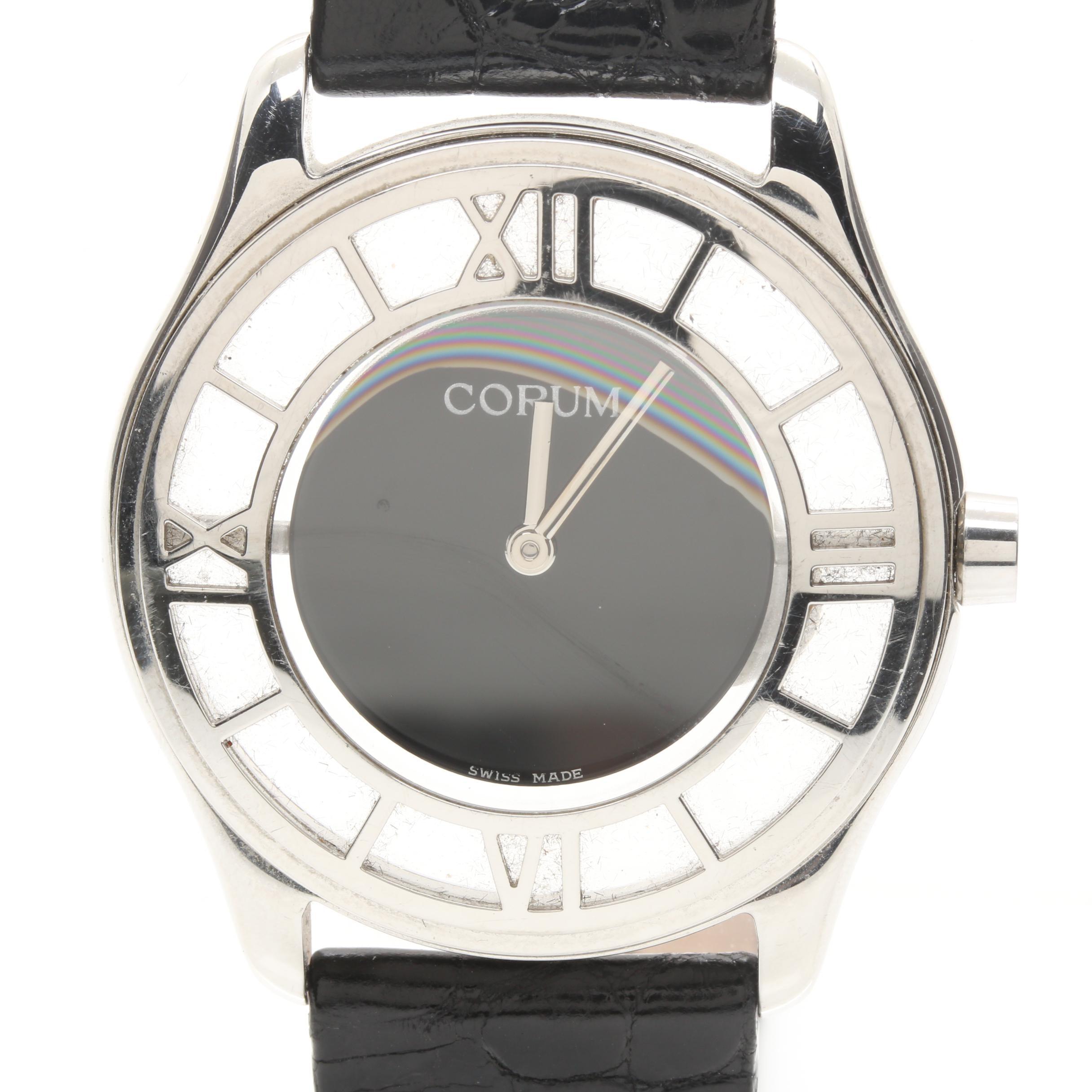 Silver Tone Corum Wristwatch