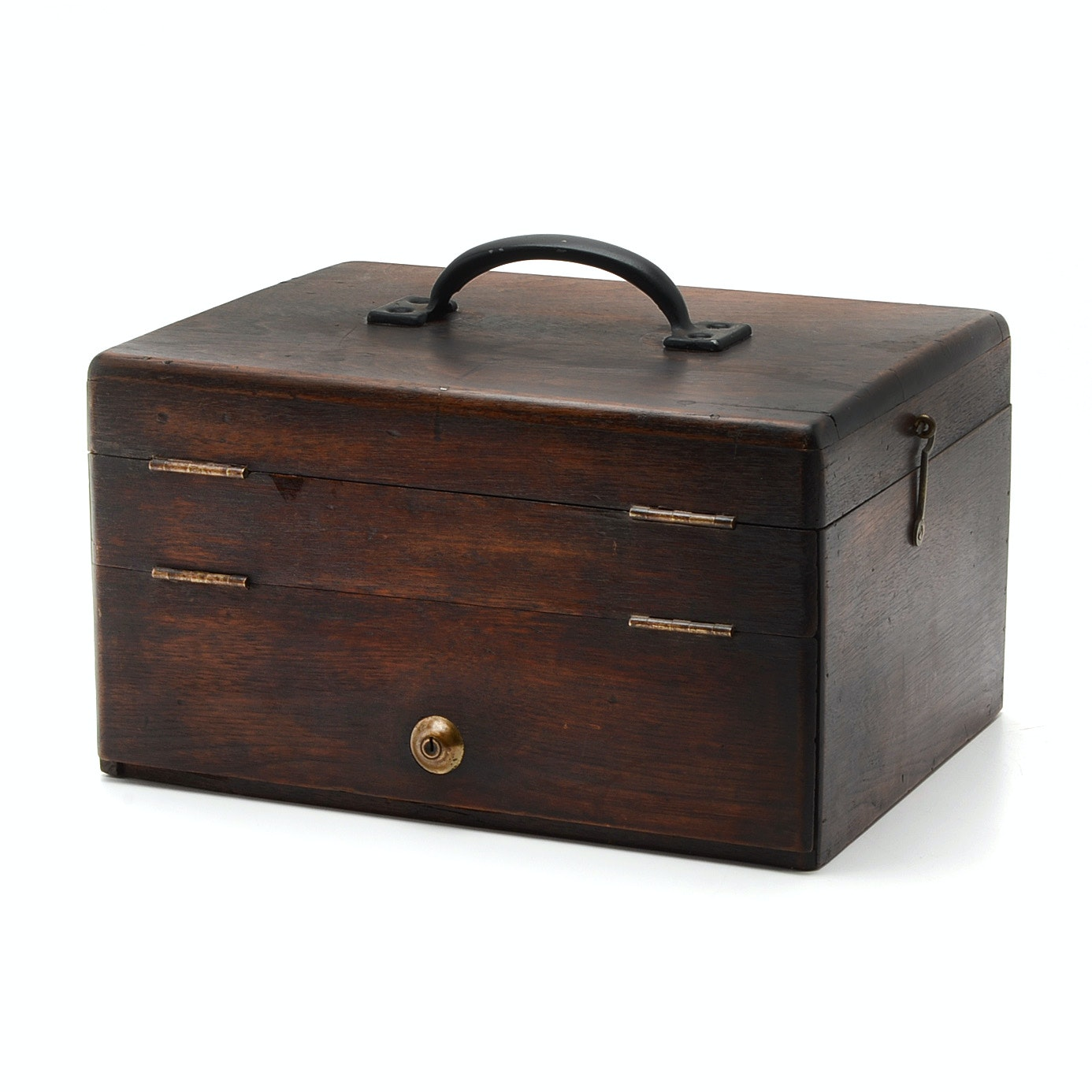 Antique Vernacular Craftsman's Tool Box, Late 19th to Early 20th Century