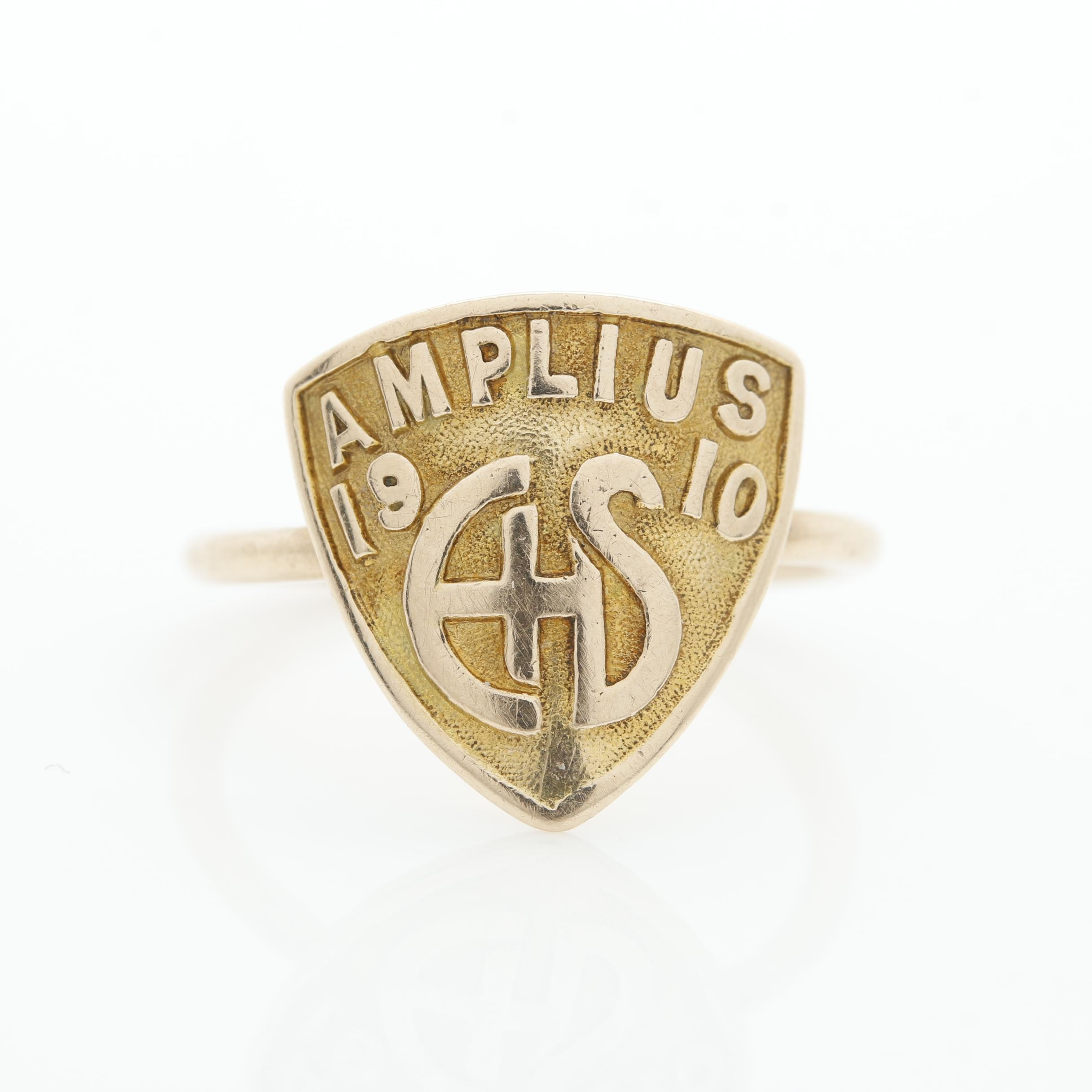 10K and 14K Yellow Gold Class Ring