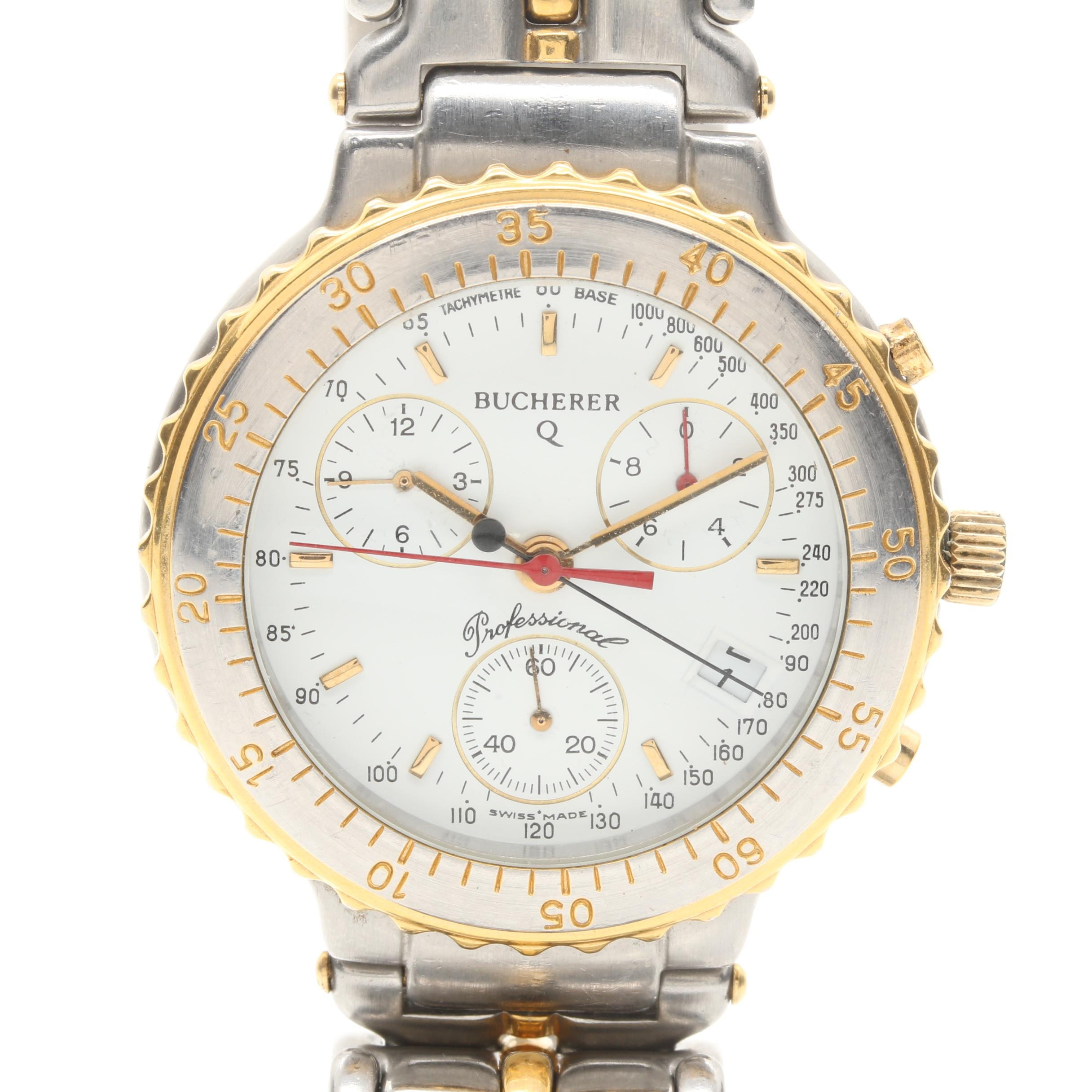 Two Tone Burcherer Chronograph Wristwatch