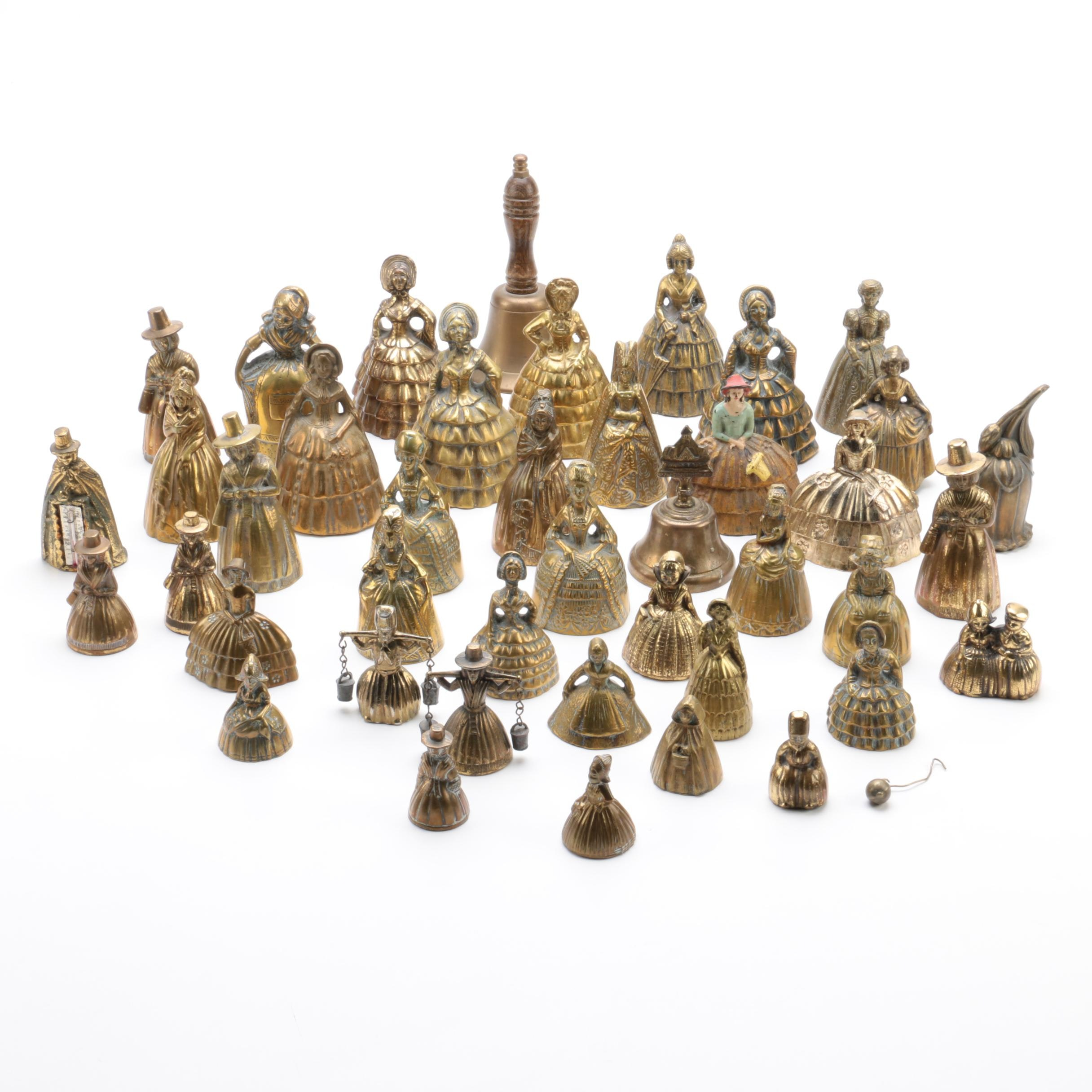 Large Vintage Brass Bell Collection