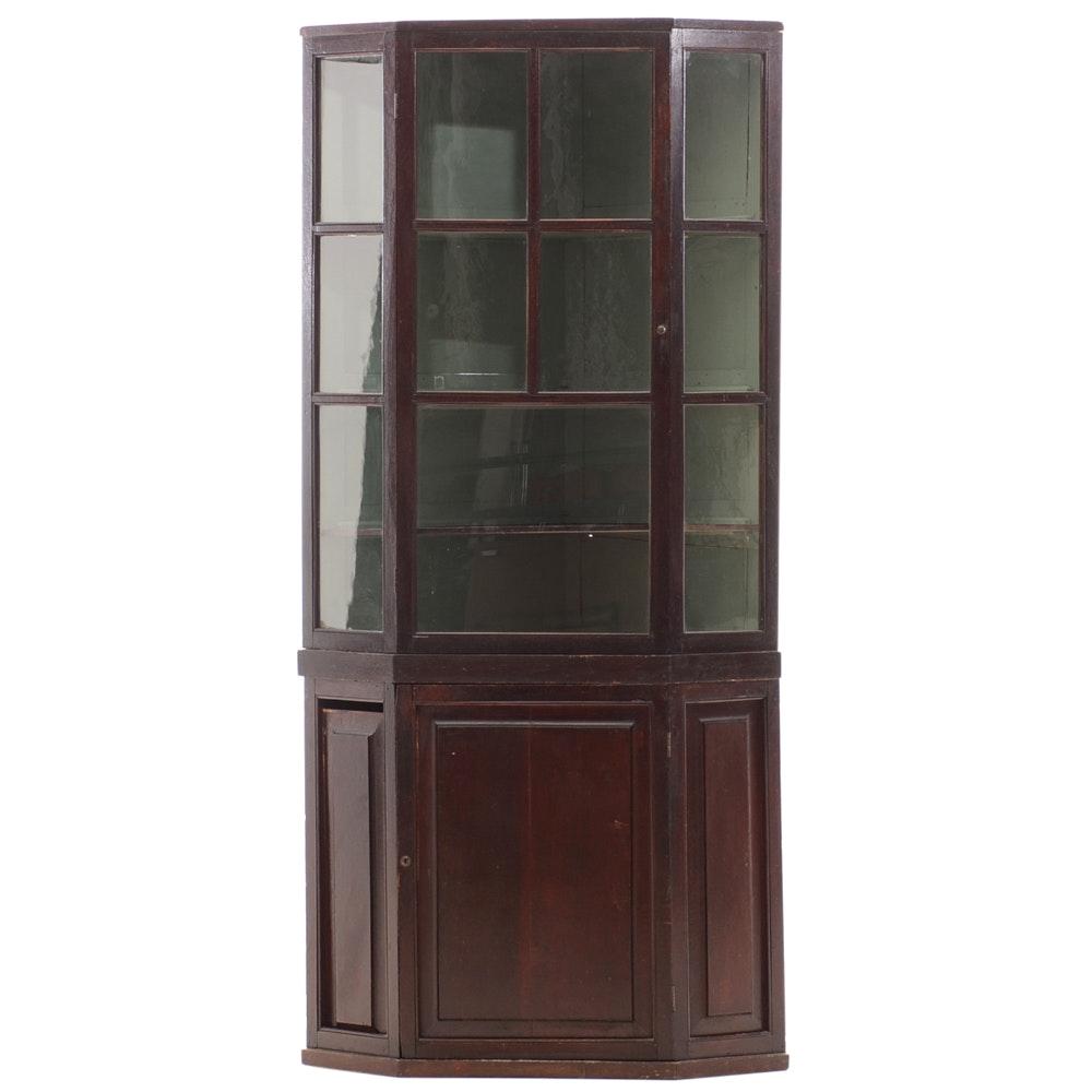 Vintage Corner Cabinet Unit