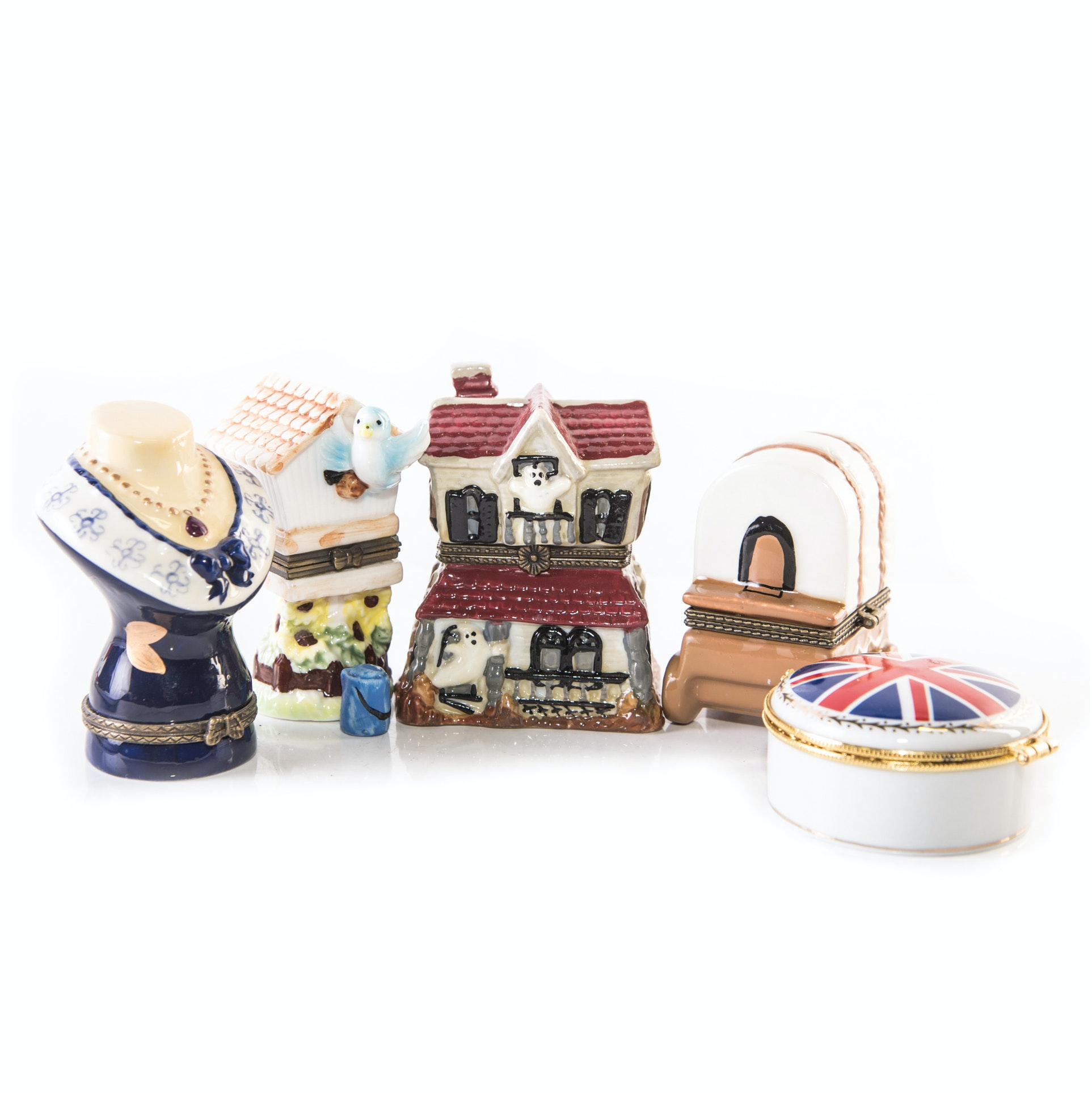 Figural Ceramic Trinket Boxes