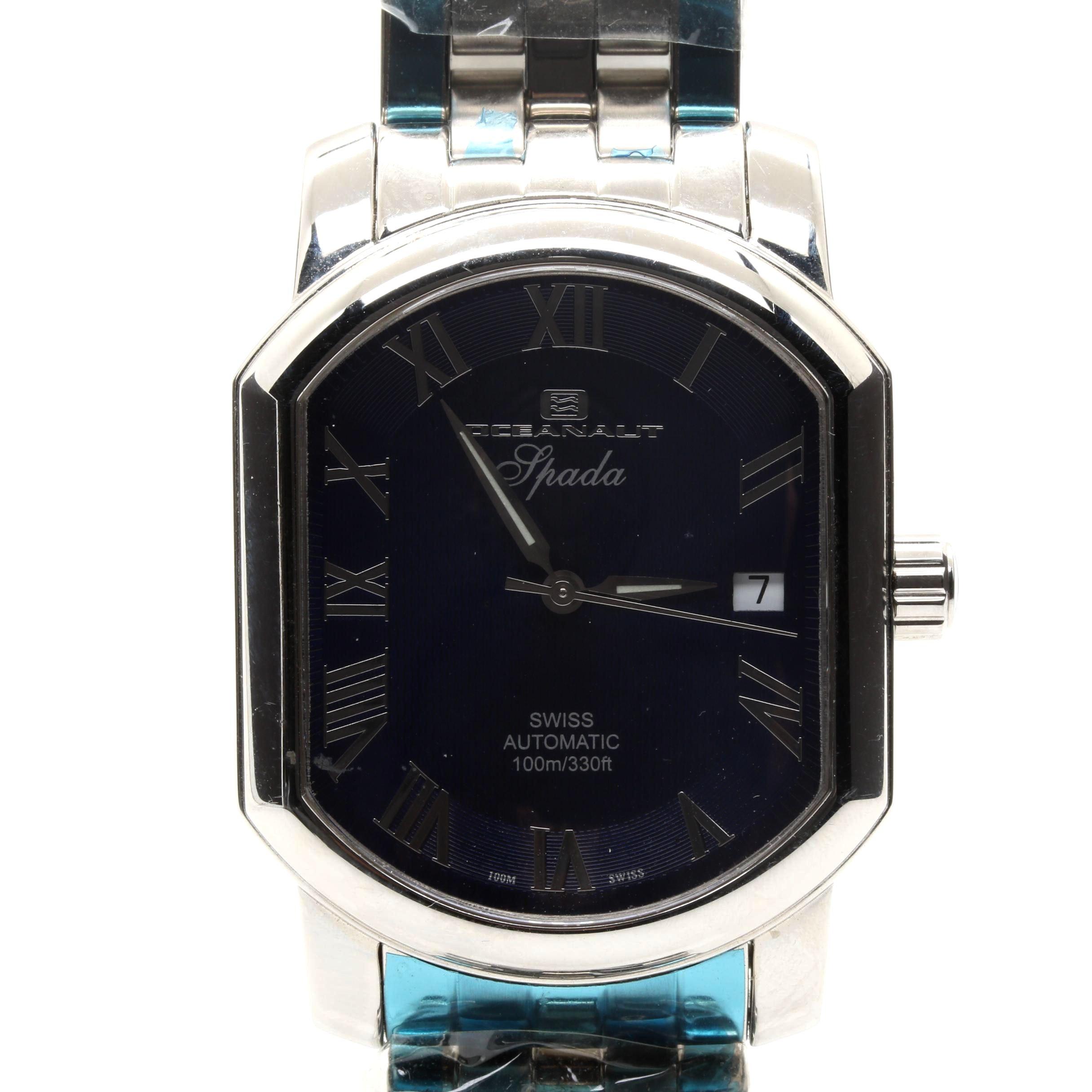Silver Tone Oceanaut Wristwatch