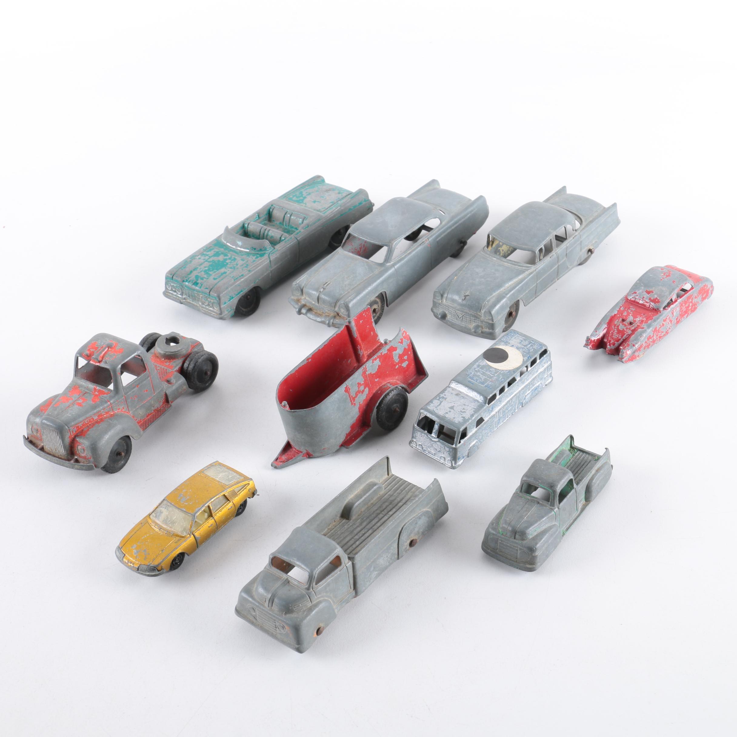 Vintage Die-Cast Cars and Trucks Including Midge
