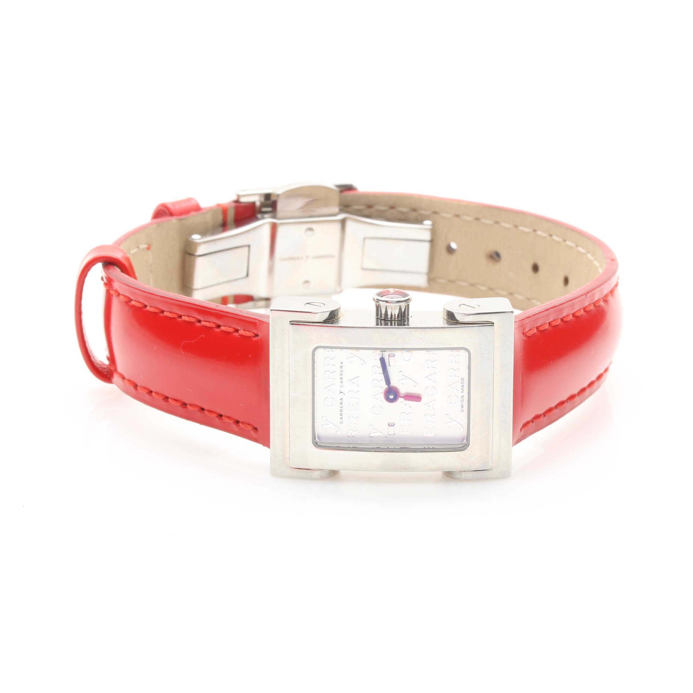 Silver Tone Carrera Y Carrera Wristwatch