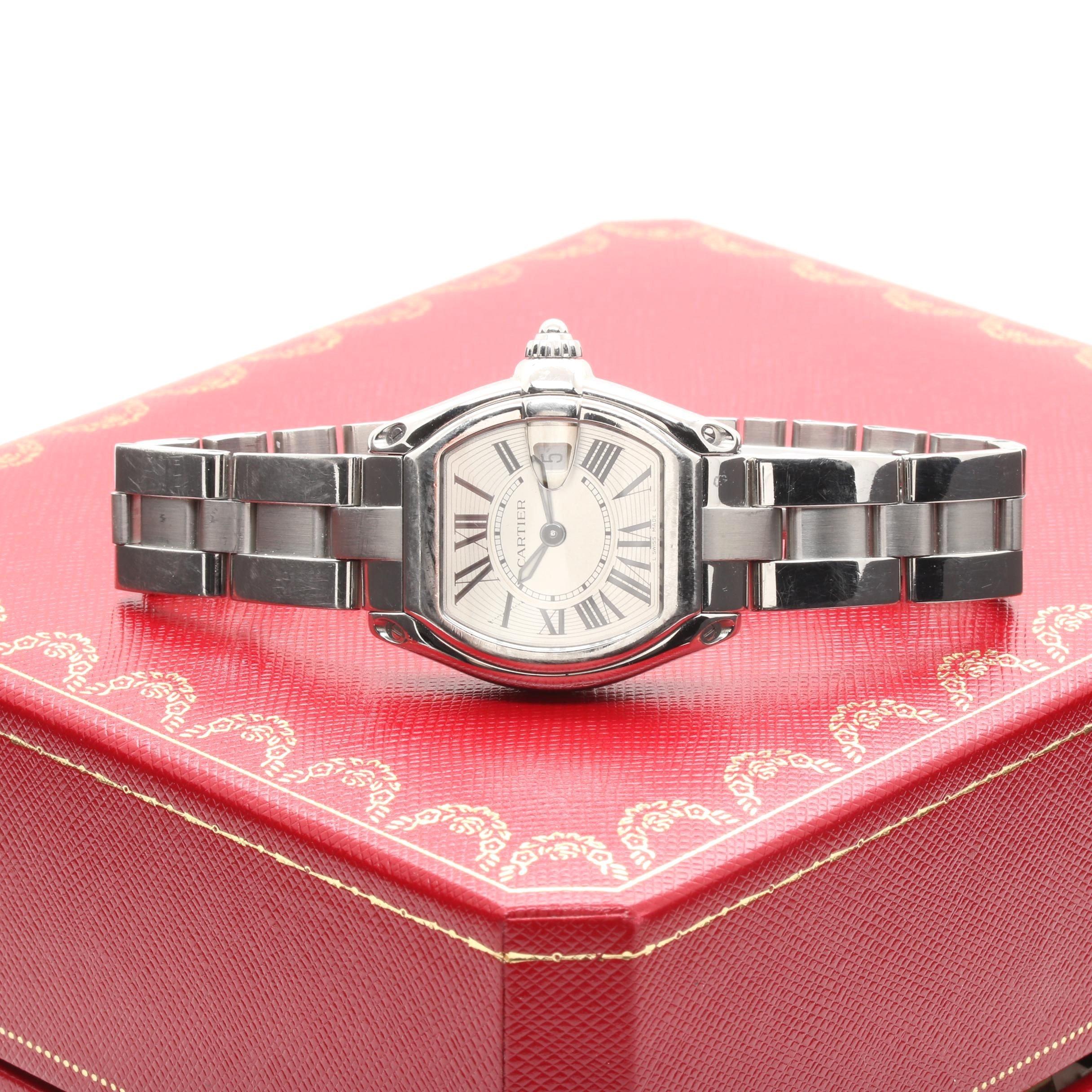Silver Tone Cartier Roadster Wristwatch