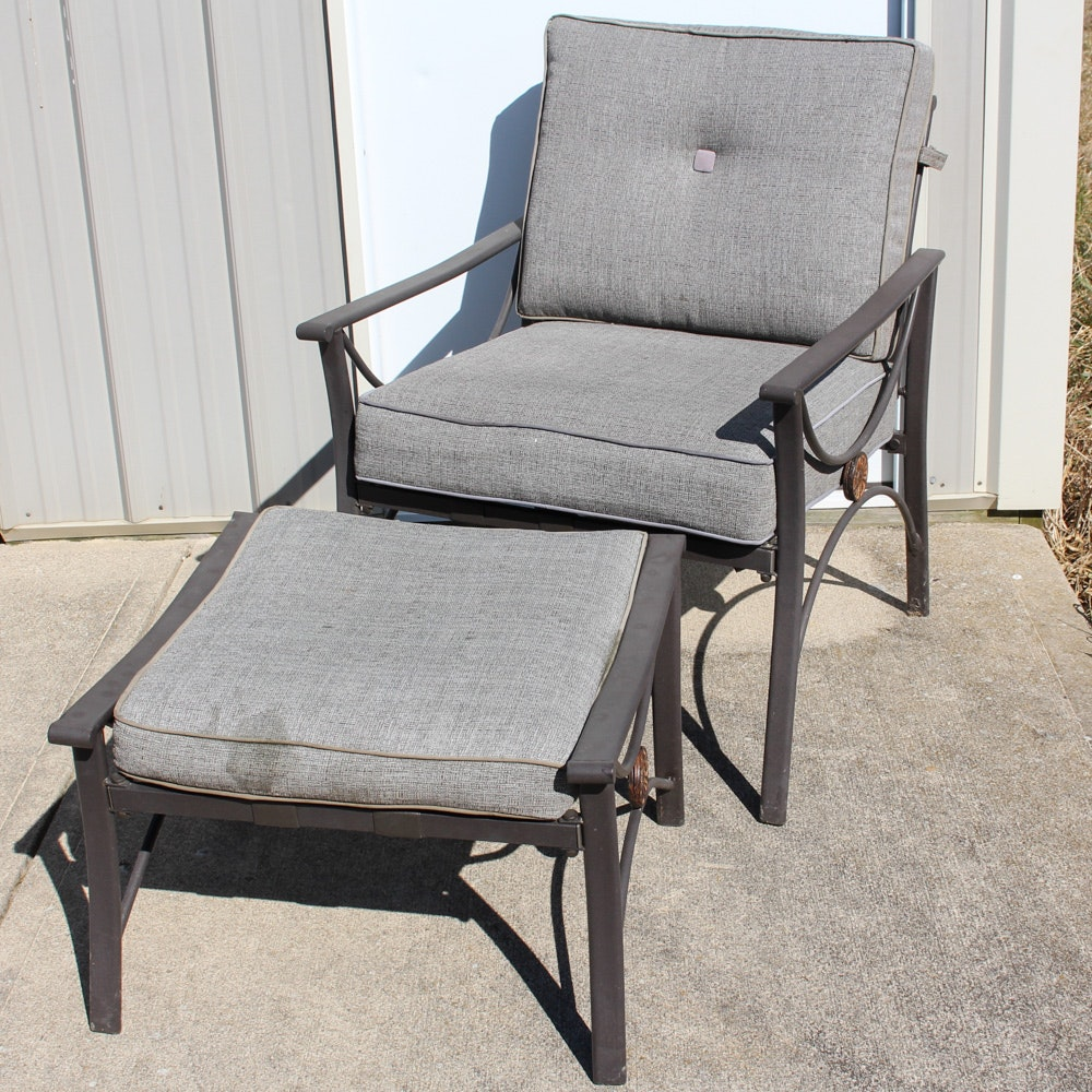 Better Homes and Gardens Patio Chair with Ottoman