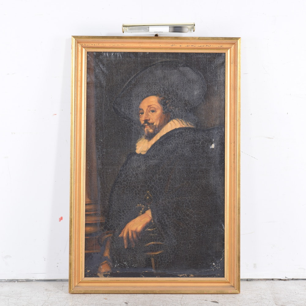"Copy Oil Painting In the Manner of Peter Paul Rubens ""Self Portrait"""