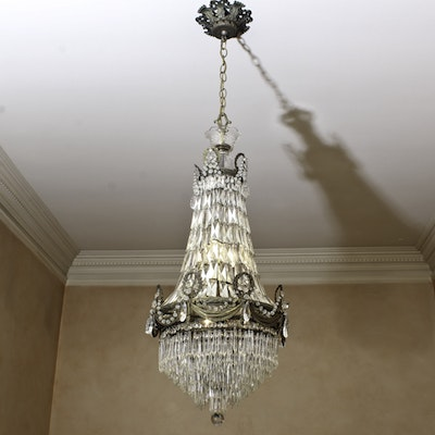 French Style Crystal Basket Chandelier