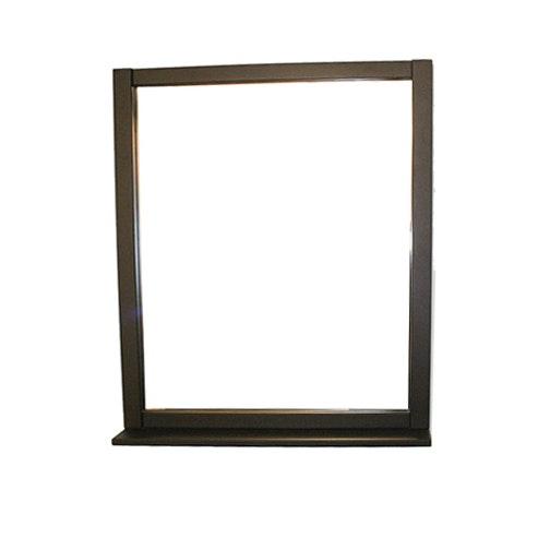 Dark Wood Framed Wall Mirror