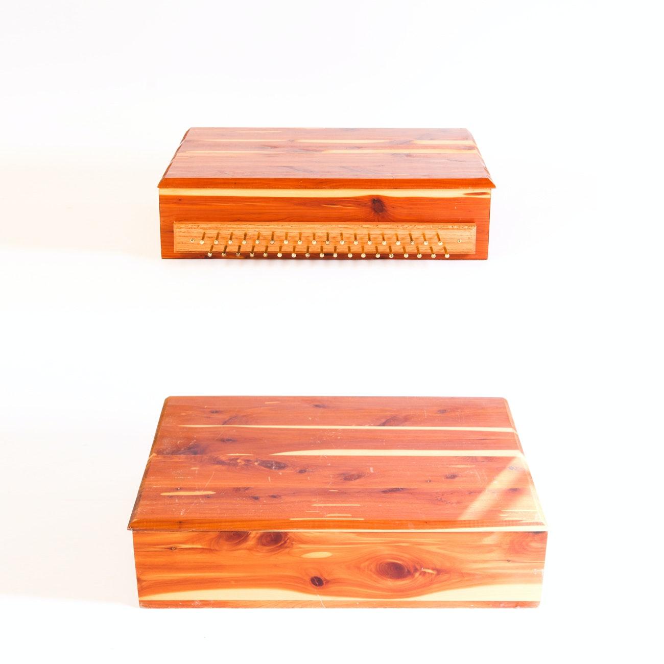 Cedar Storage Boxes