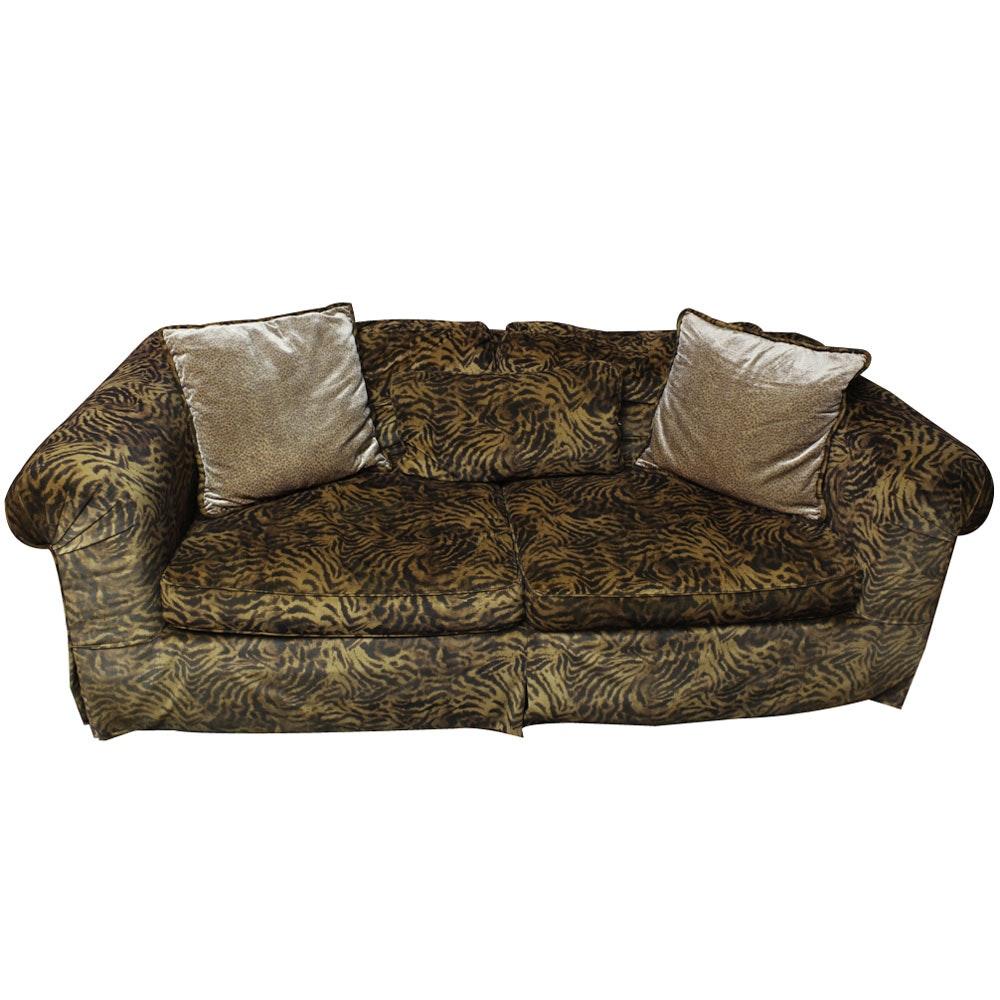 Contemporary Animal Print Sofa