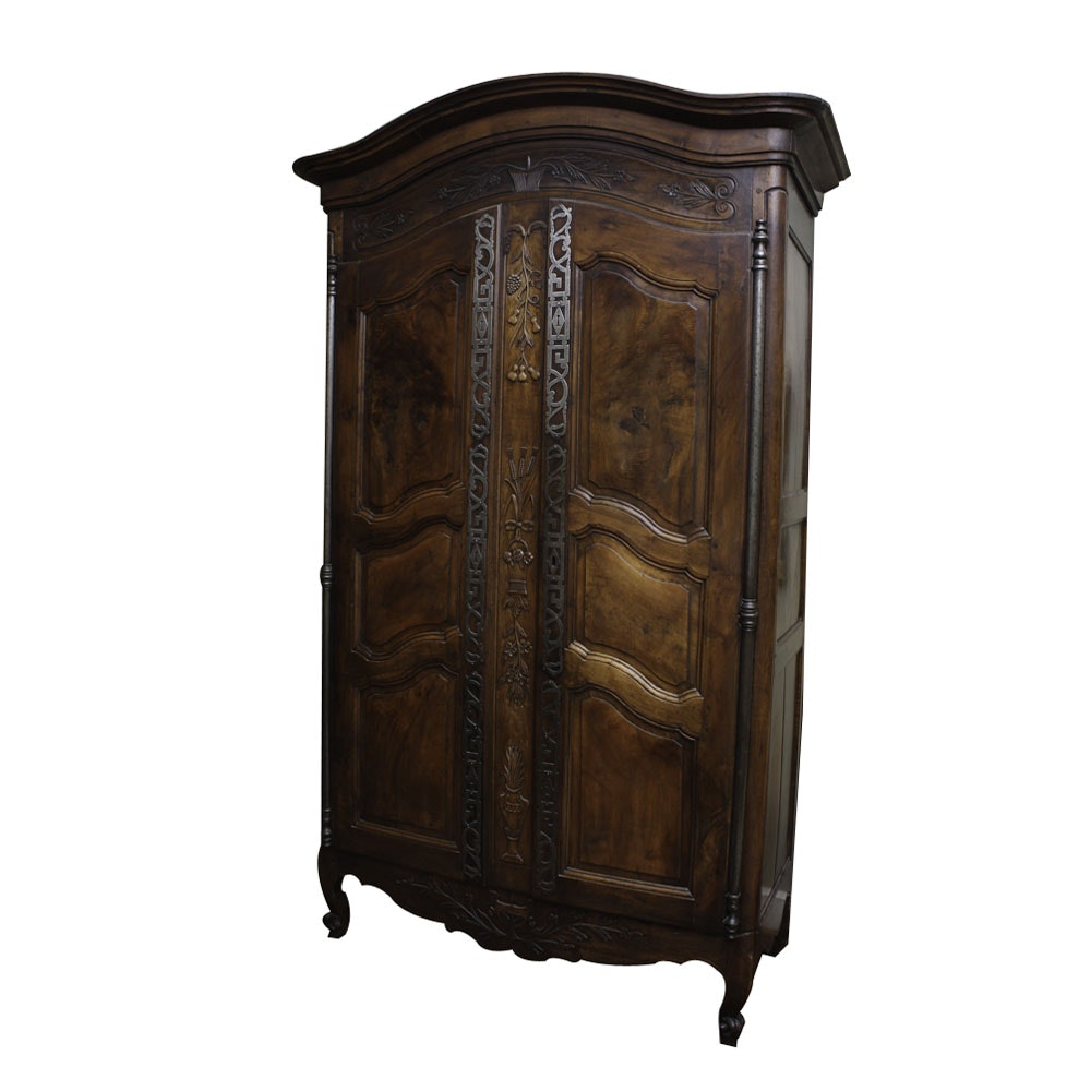 French Louis XV-Style Armoire with Fitted Interior