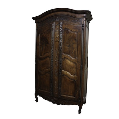 French Louis XV Provençal Armoire with Fitted Interior