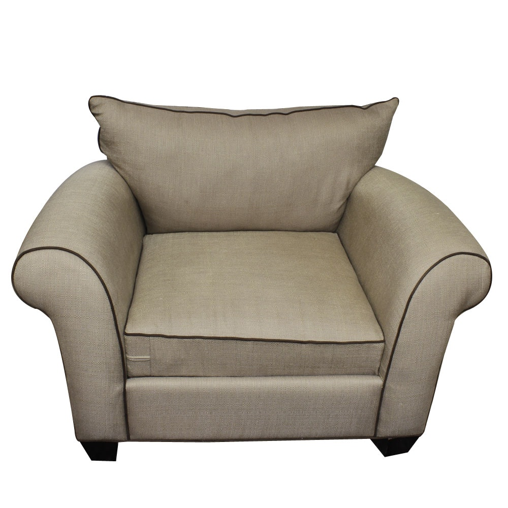 Linen Upholstered Lounge Chair