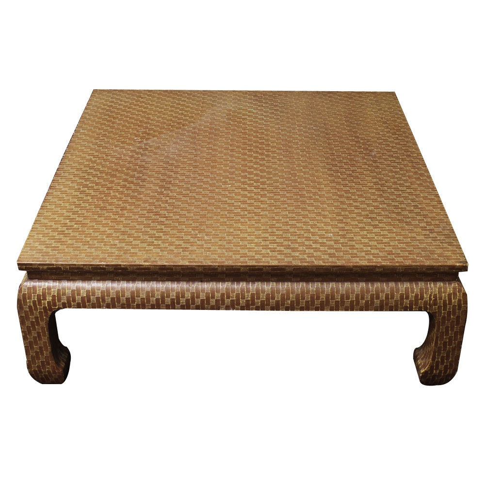 Chinese Inspired Decorative Patterned Coffee Table