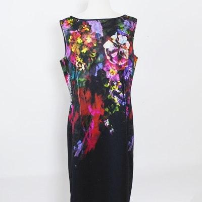 Multicolor Floral Print Sleeveless Sheath Dress