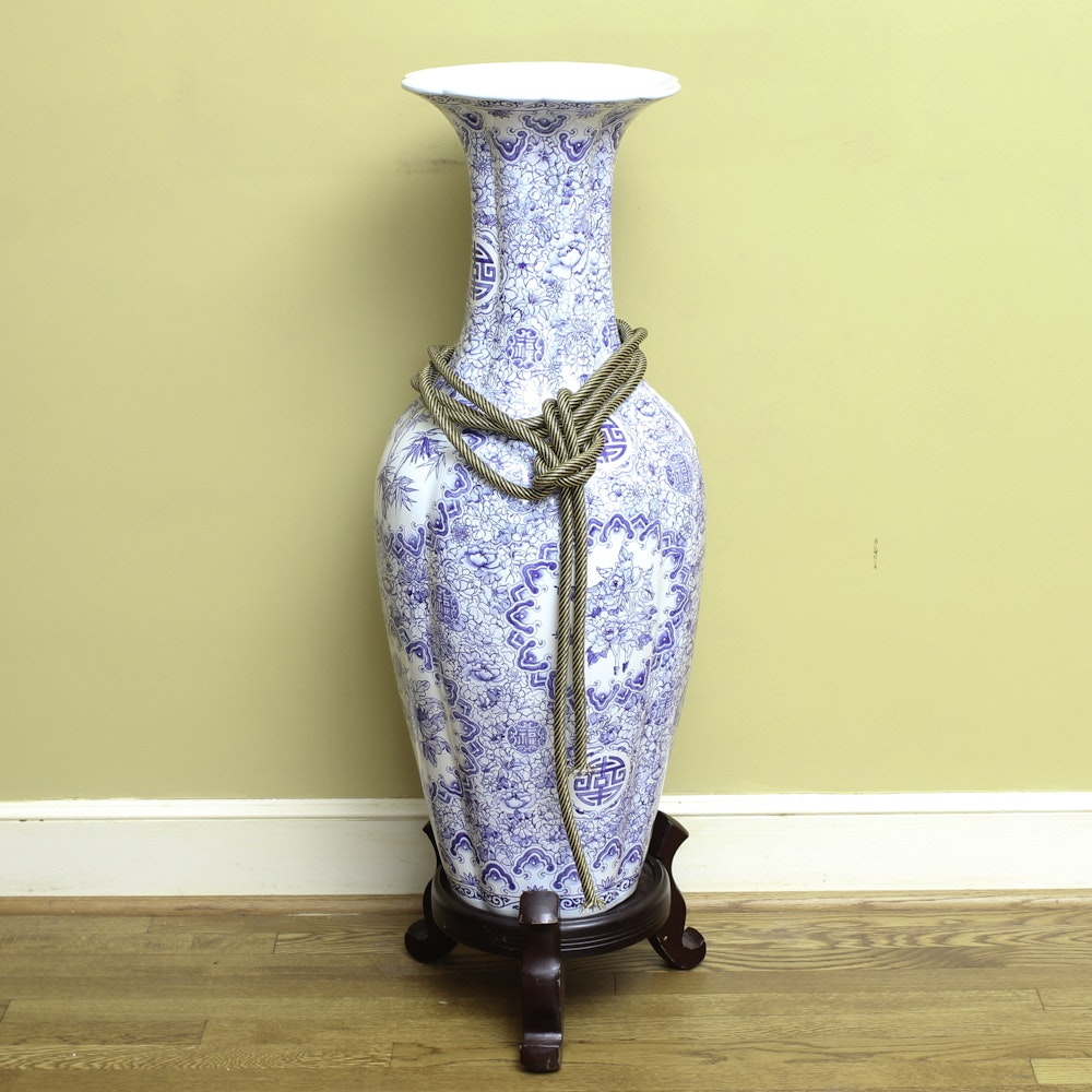 Chinese Blue and White Floor Vase