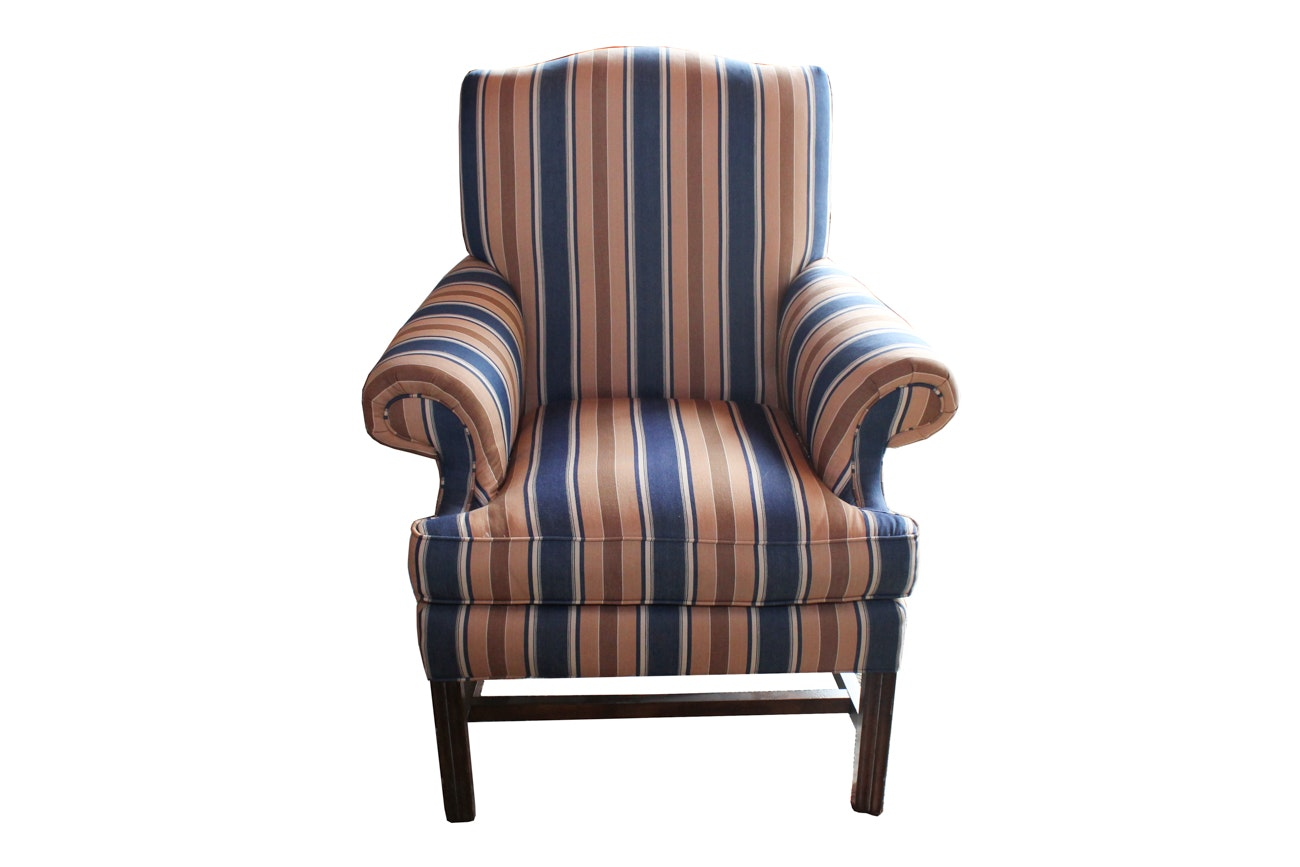Chippendale Style Upholstered Armchair By Lexington Furniture