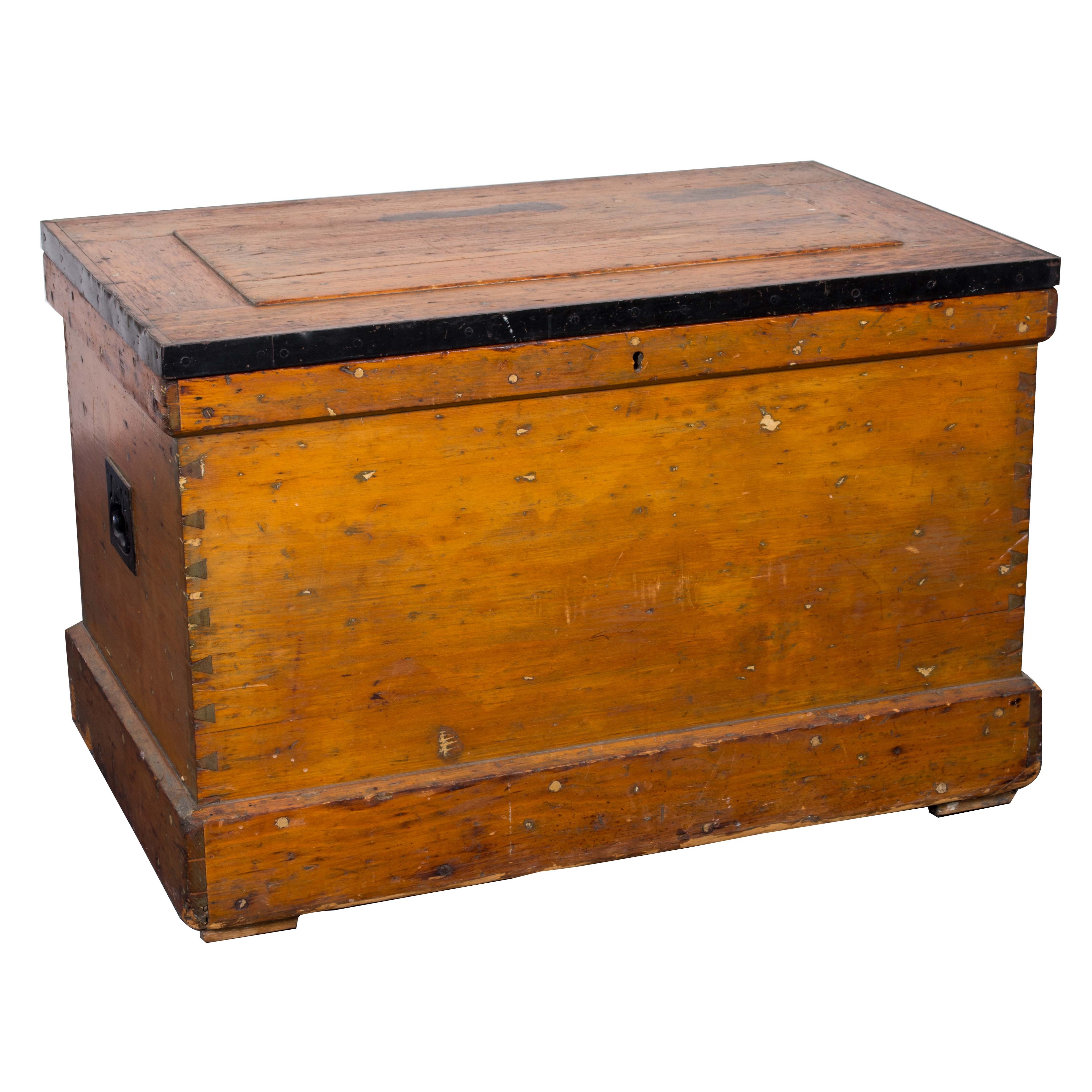 Antique Pine and Curly Maple Tool Chest