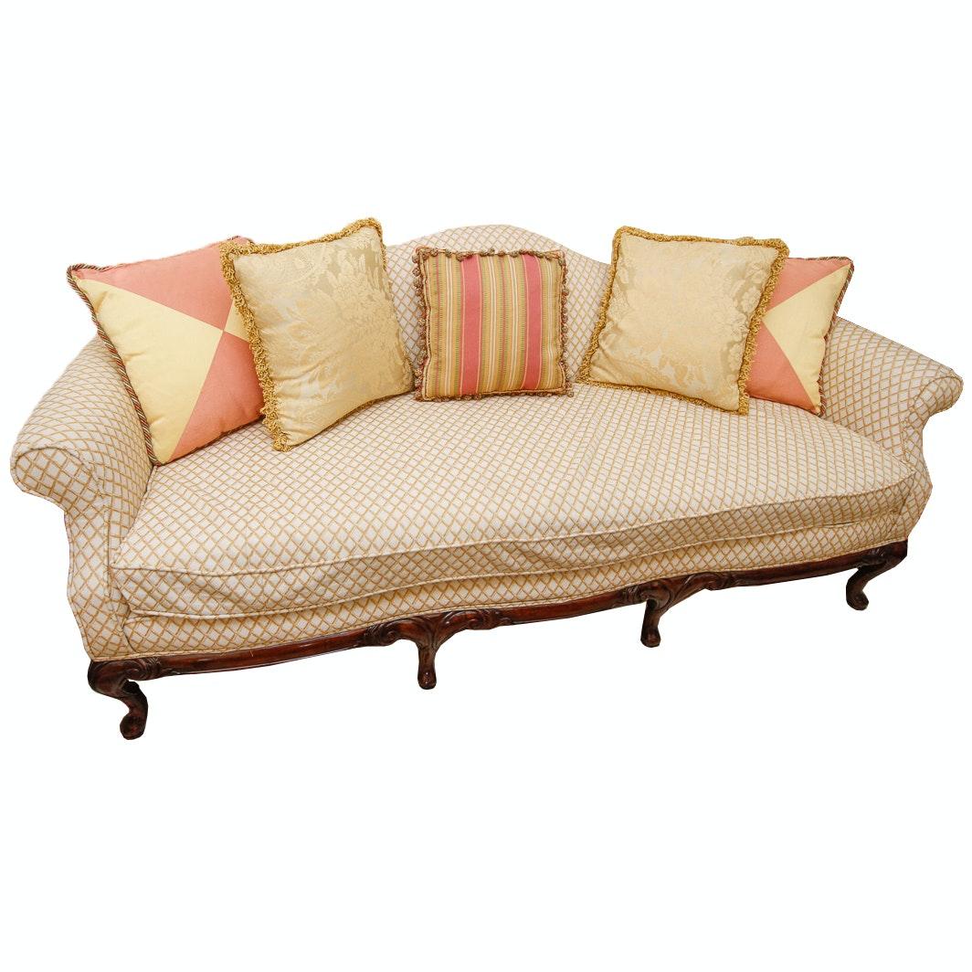 Lattice Pattern Upholstered Sofa