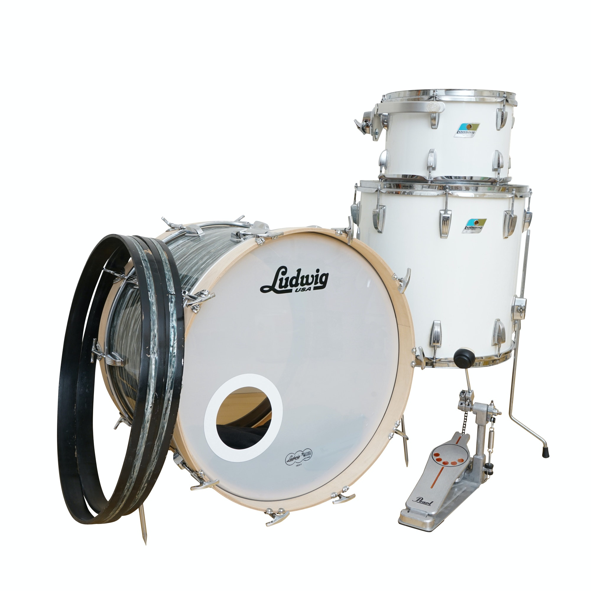 Ludwig Partial Drum Kit with Pearl Drum Pedal
