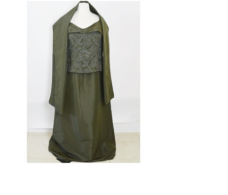 Caviar Olive Green Formal Dress