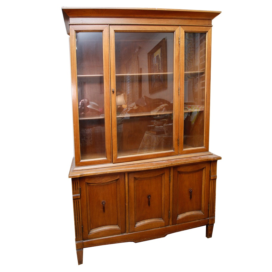 Mid-Century Walnut China Cabinet
