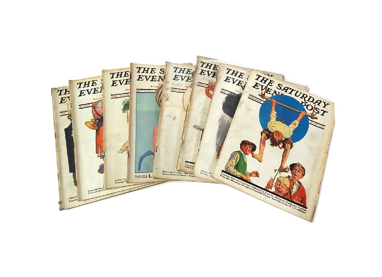 "Collection of ""The Saturday Evening Post"" from 1920s"