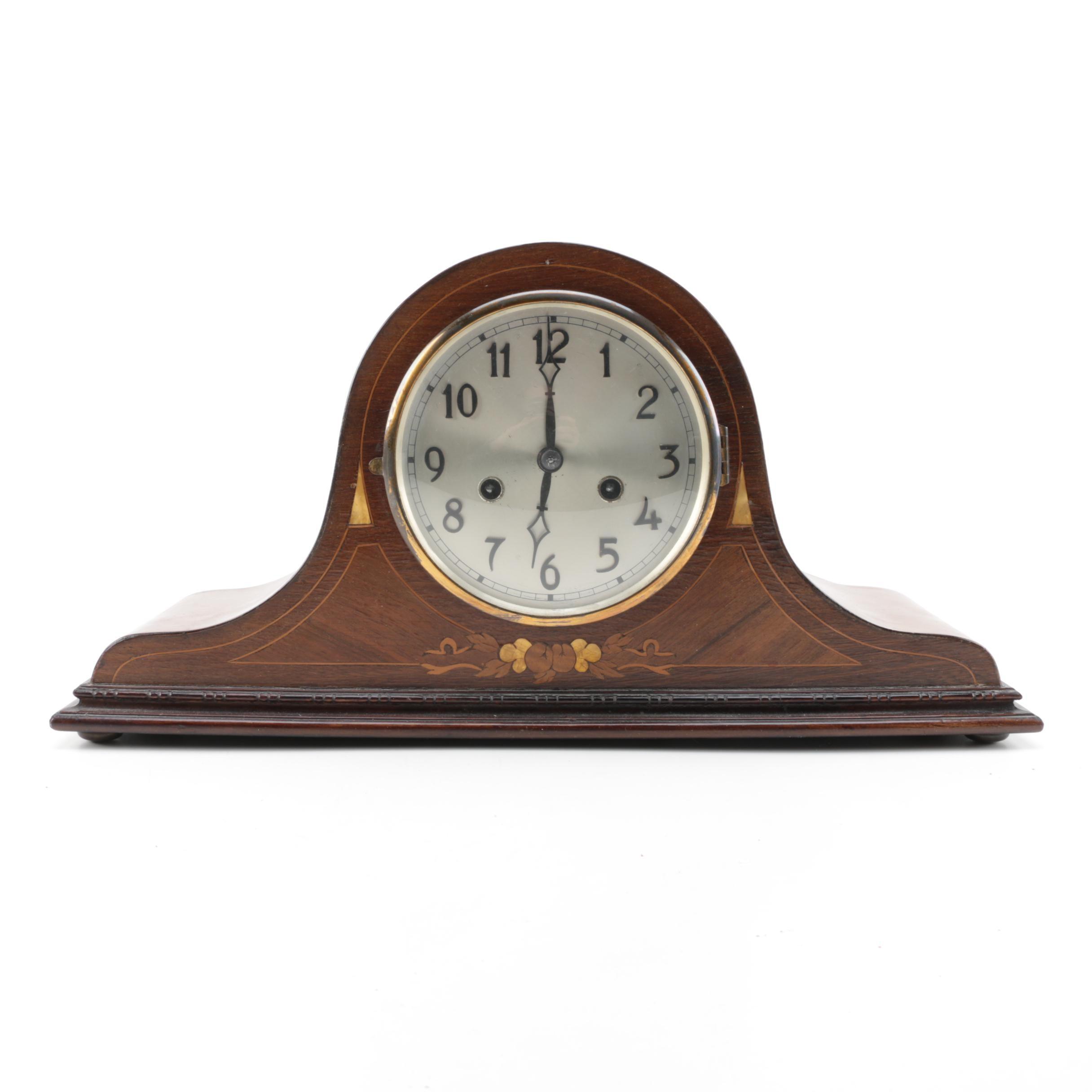 Wood Tambour Mantel Clock