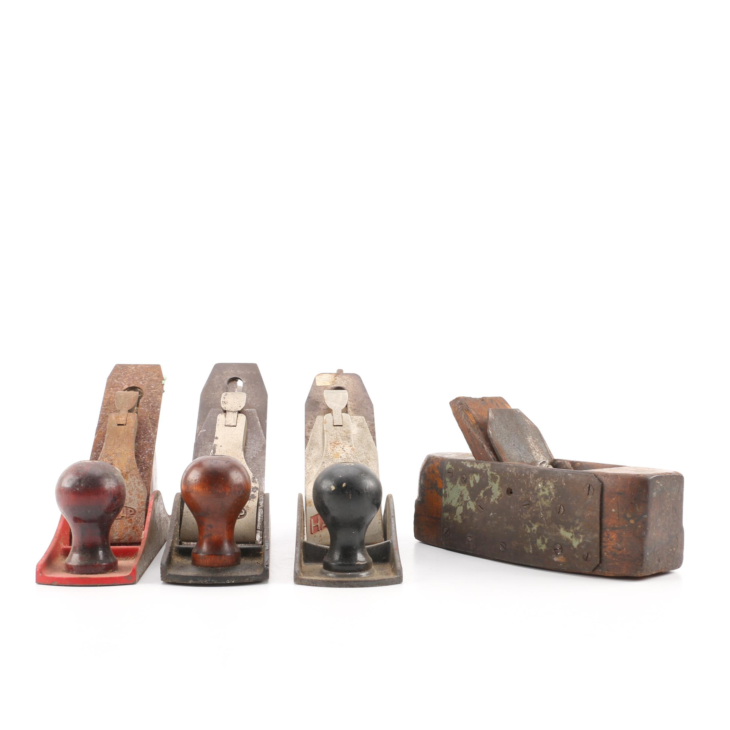 Vintage Hand Planes, Including Stanley and Dunlap