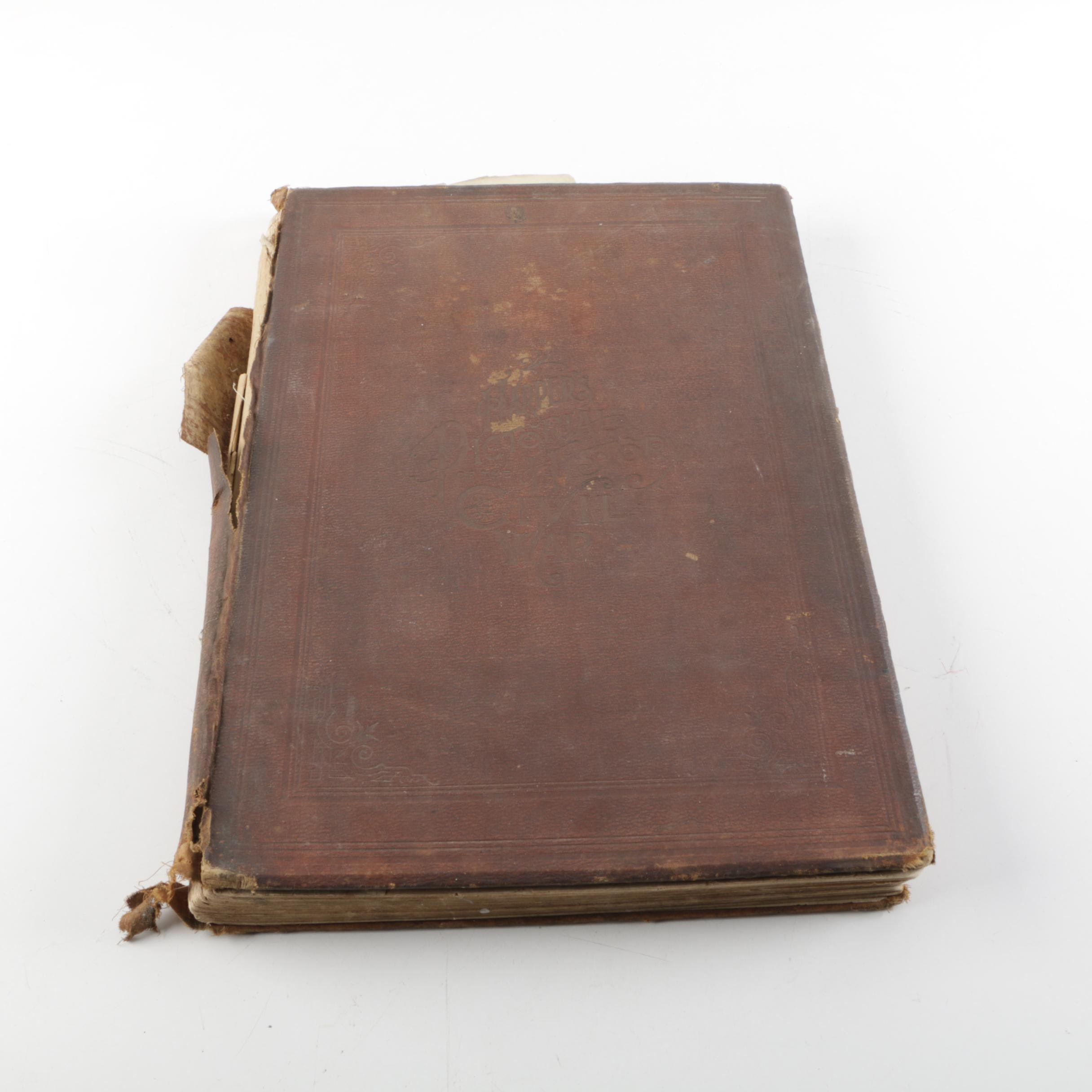 """1866 """"Harper's Pictorial History of The Civil War"""" Volume One"""