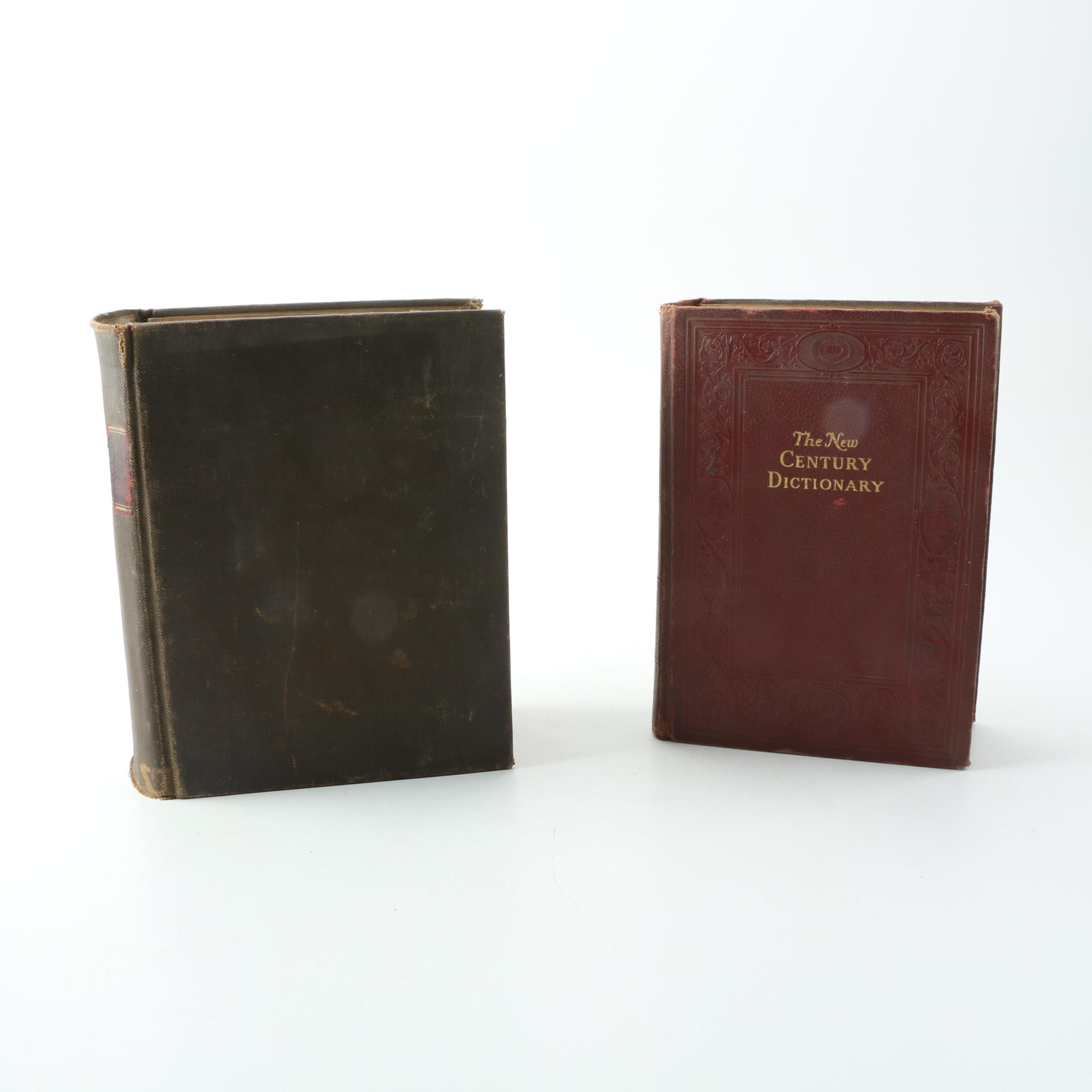 """The New Century Dictionary, Vol. 2"" and ""Dictionary"" by Noah Webster"