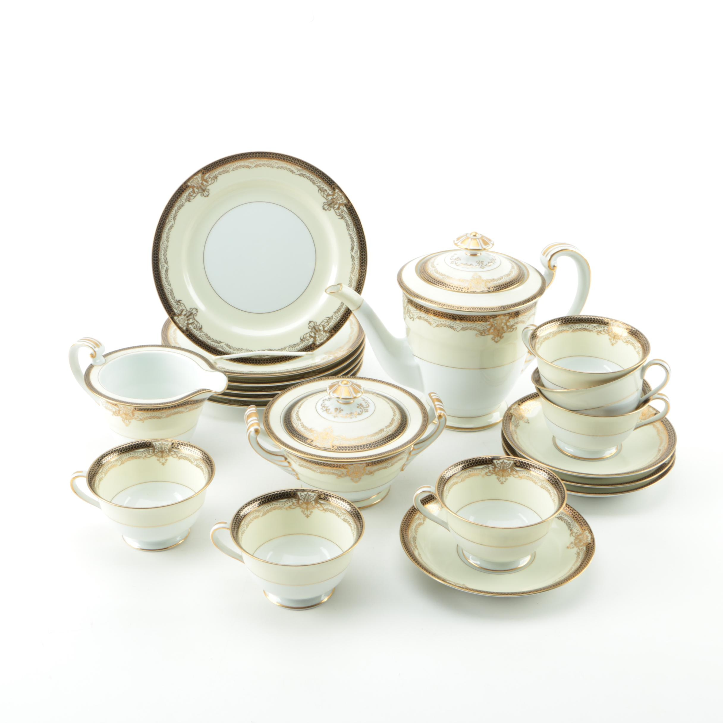 "Vintage Noritake ""Valencia"" Porcelain Tea Service"