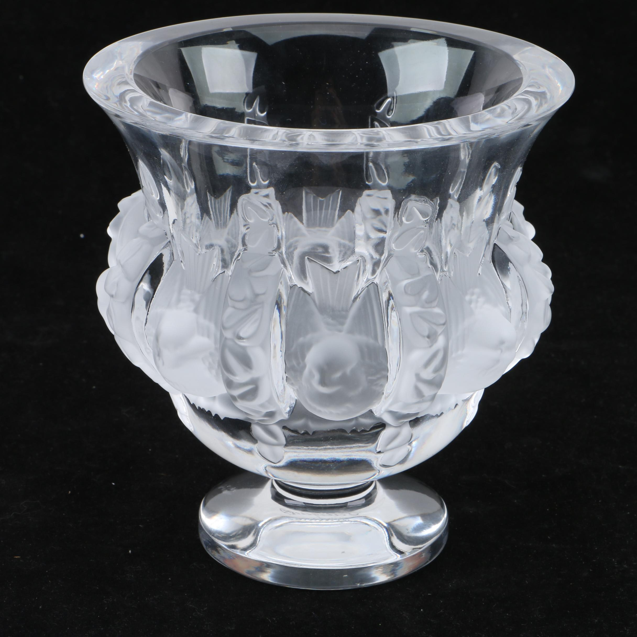 "Lalique ""Love Birds"" Crystal Vase"