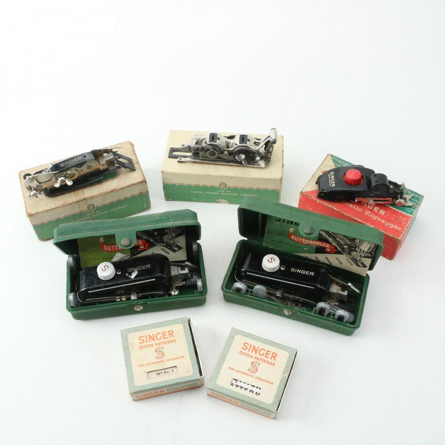Collection Of Vintage Singer Sewing Machine Parts EBTH Adorable Singer Sewing Machine Parts Store