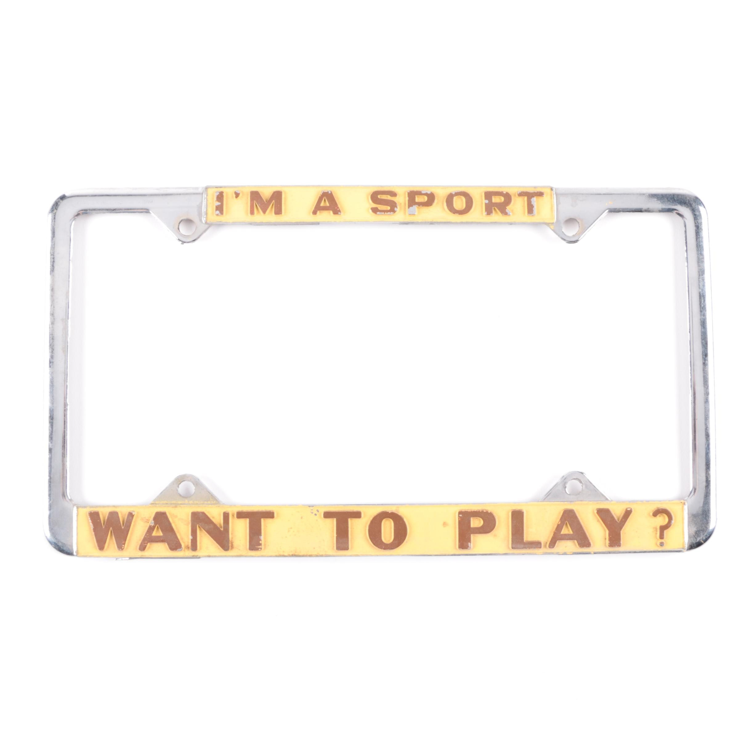 Sport Themed License Plate Frame