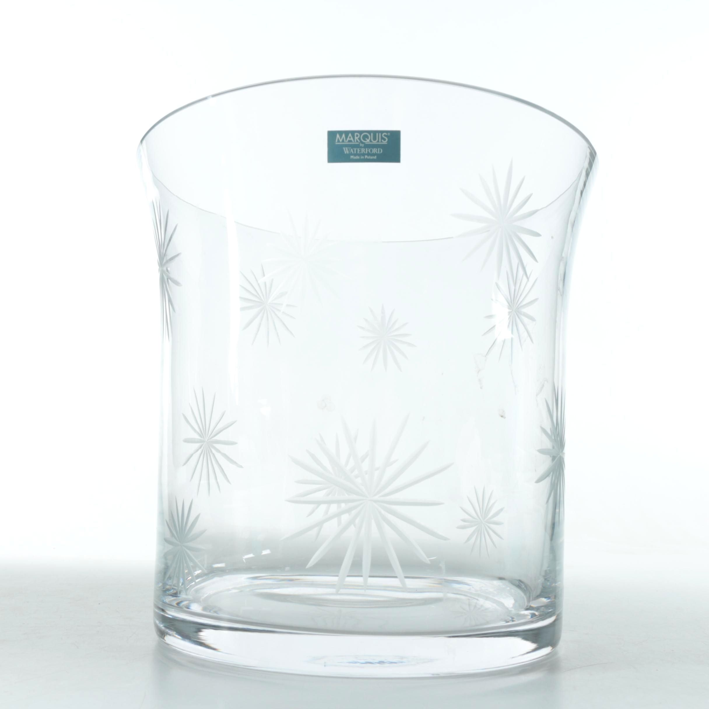 Marquis by Waterford Crystal Star Pattern Ice Bucket