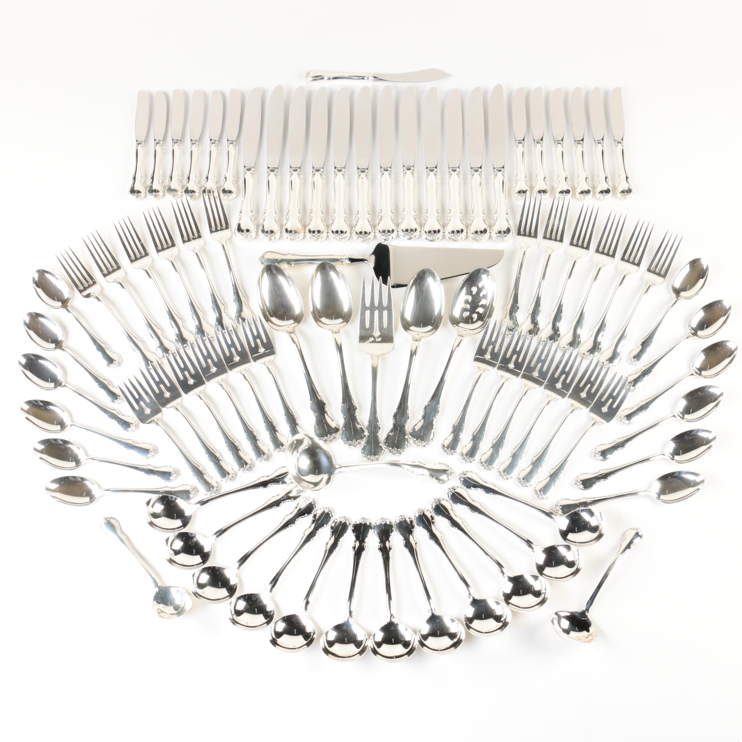 """Towle """"French Provincial"""" Sterling Silver Flatware Set"""