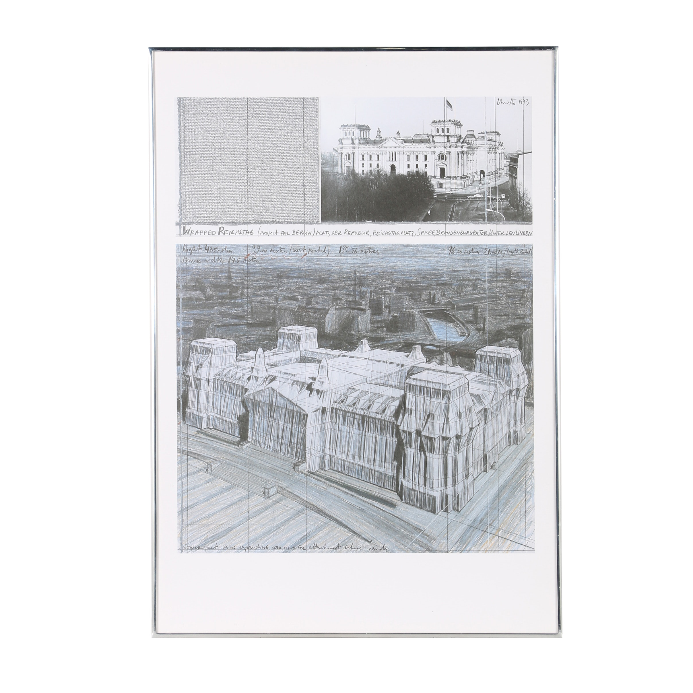 "Offset Lithograph After Javacheff Christo and Jeanne-Claude ""Wrapped Reichstag"""