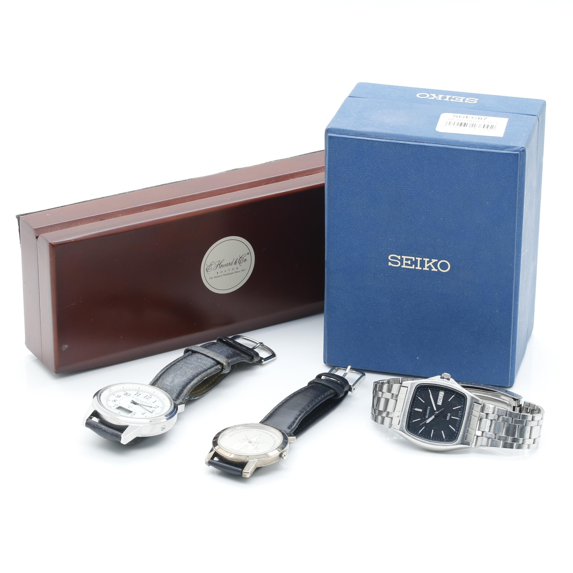 Assortment of Silver Tone Wristwatches