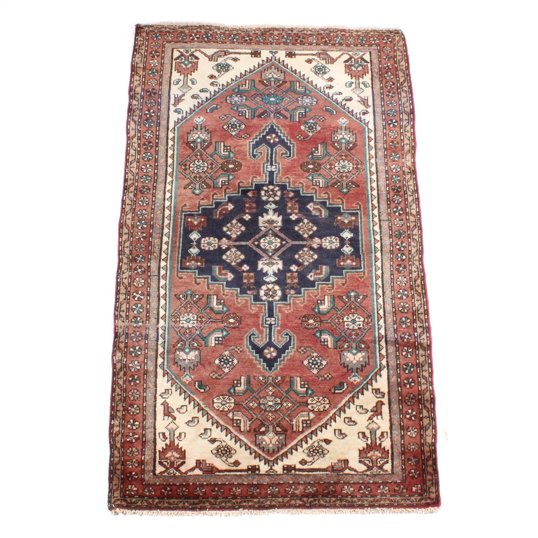 4' x 7' Vintage Hand-Knotted Persian Karaja Heriz Area Rug