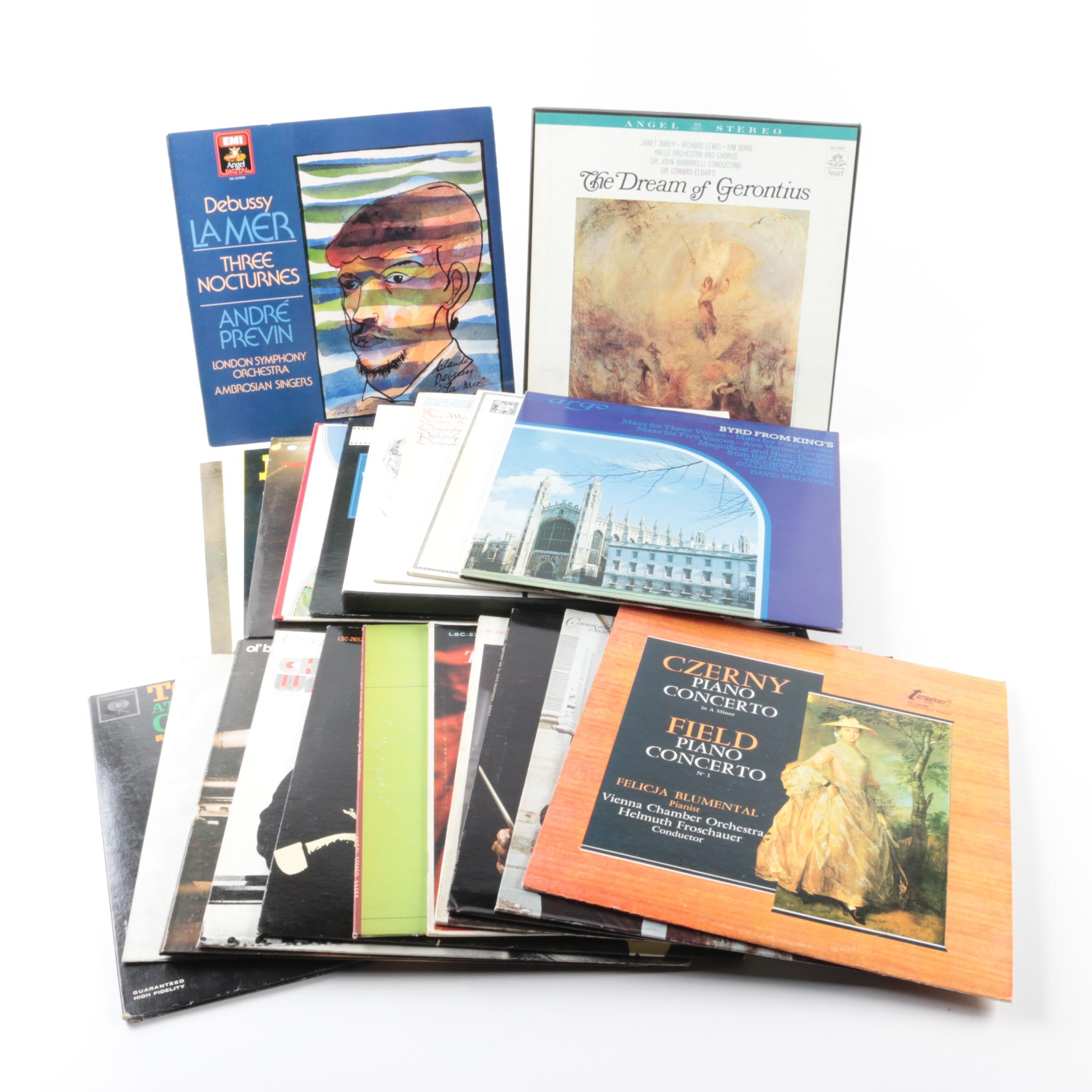 Debussy, Dvorak, Elgar, Field, Chopin and Other Classical LP Records
