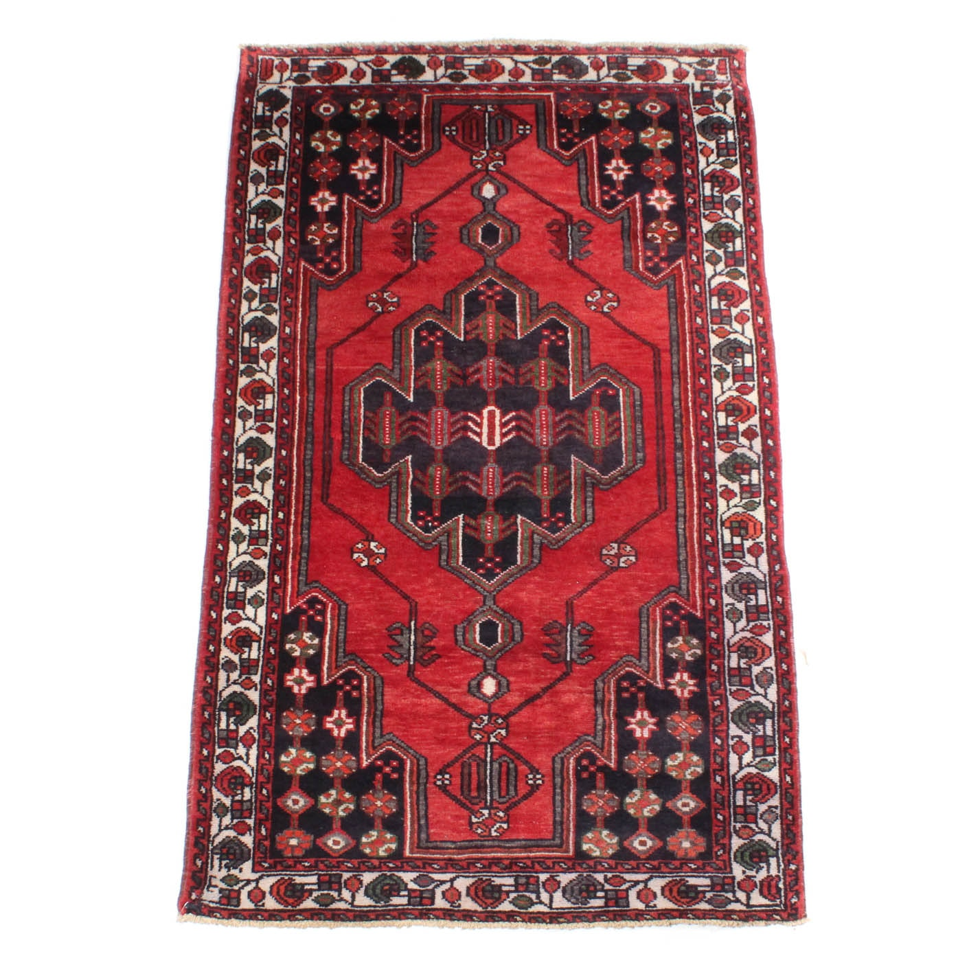4' x 7' Vintage Hand-Knotted Persian Zanjan Area Rug